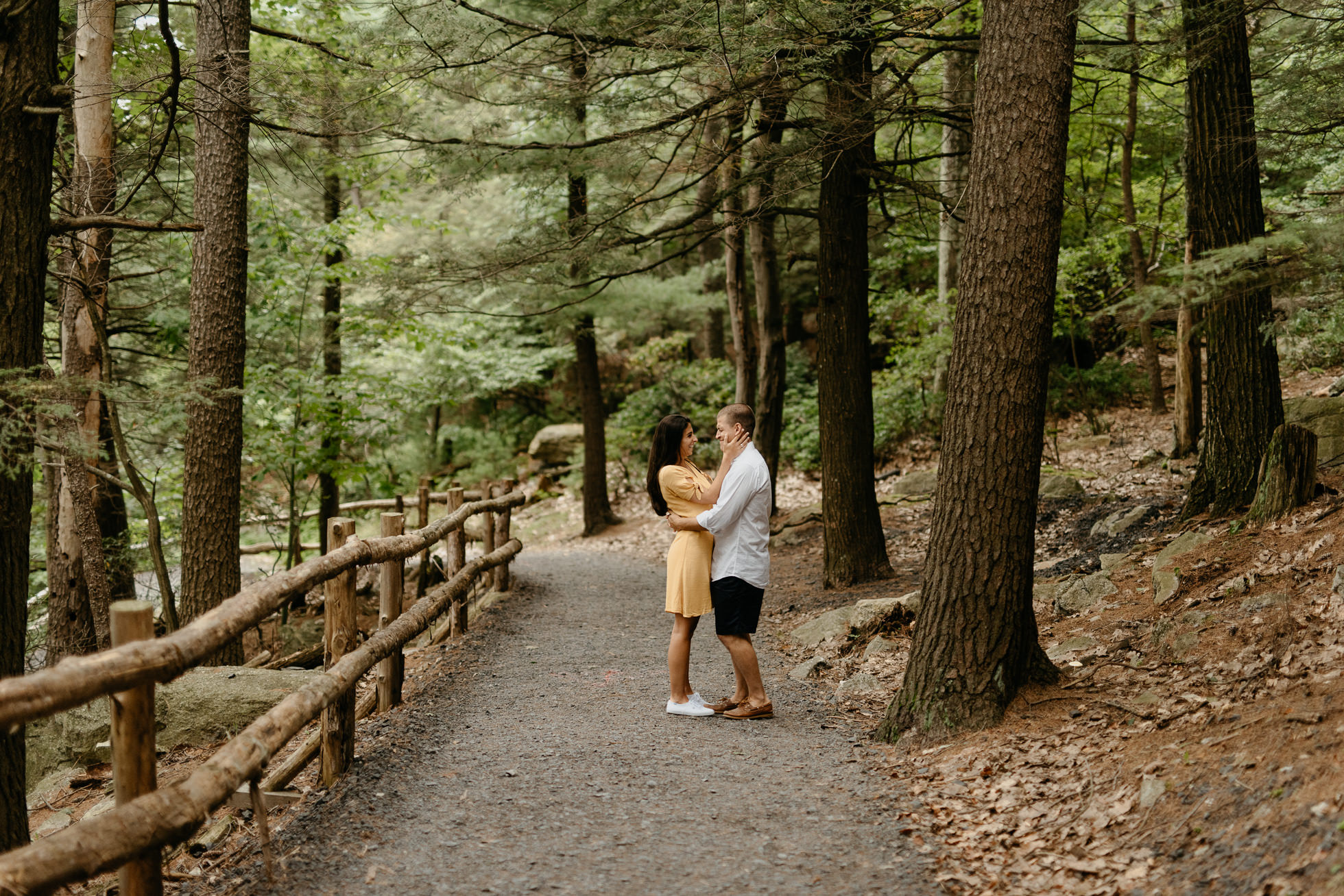 woods engagement session