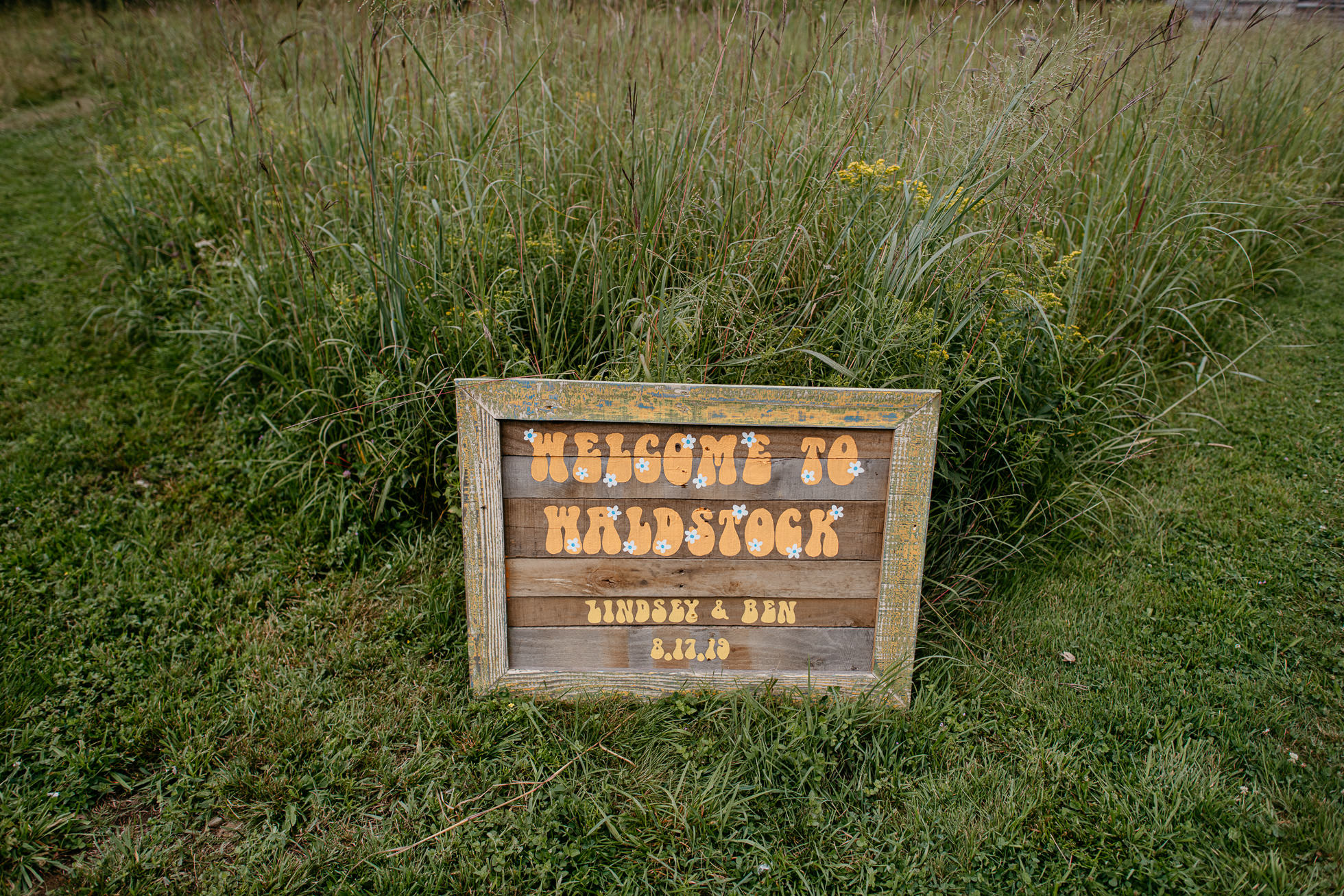 Woodstock wedding sign