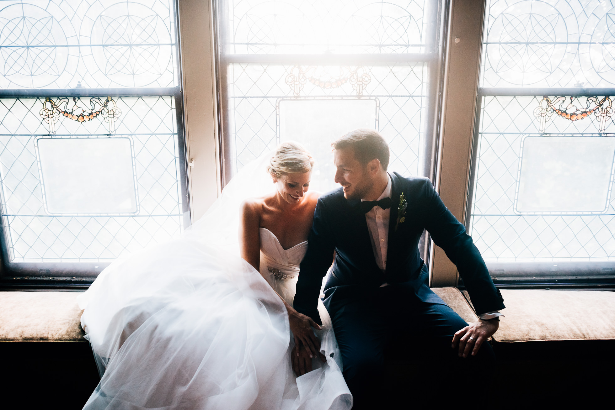 bride and groom inside mansion at lyndhurst castle photographed by traverse the tides-4