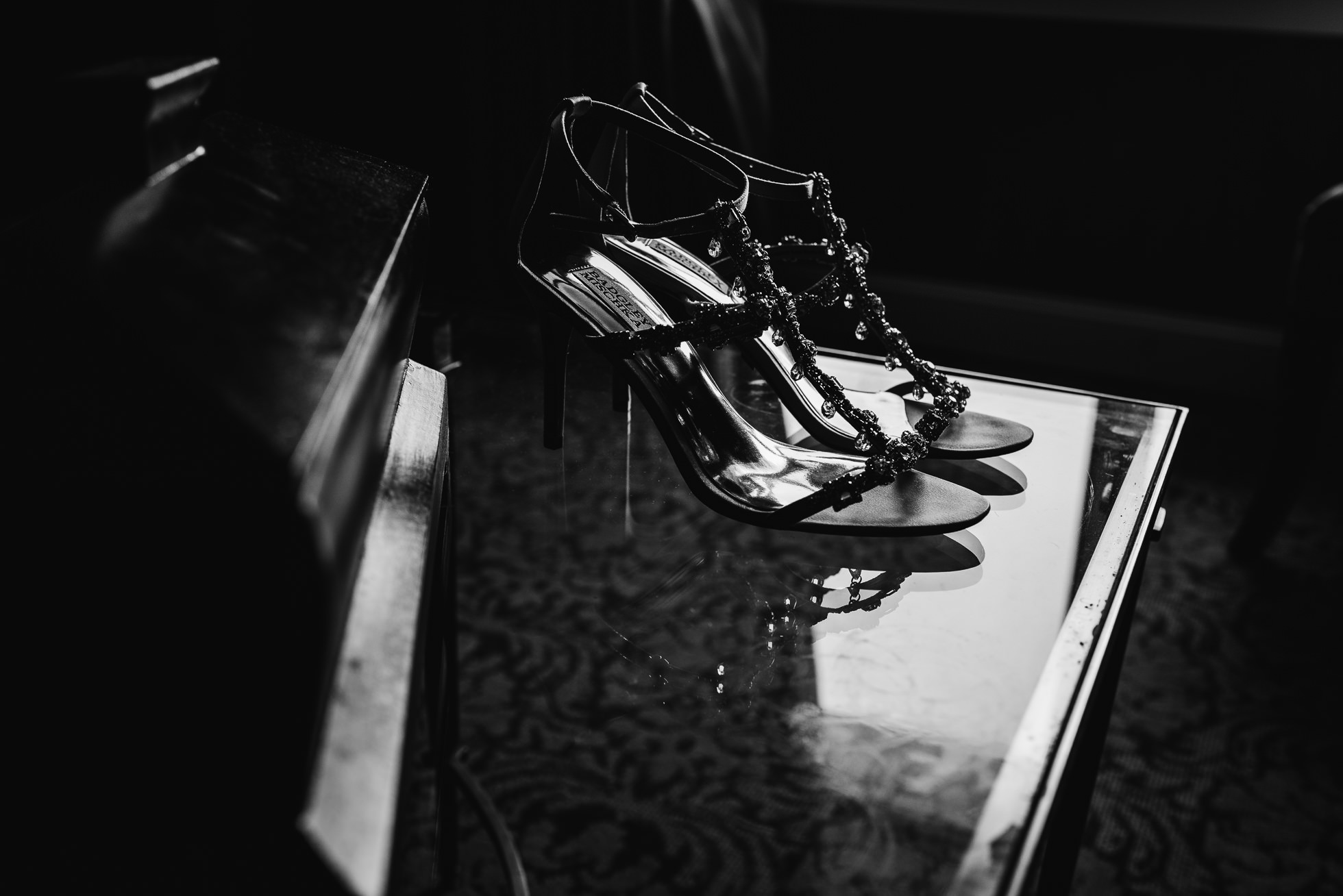 bride shoes lyndhurst castle wedding photographed by traverse the tides