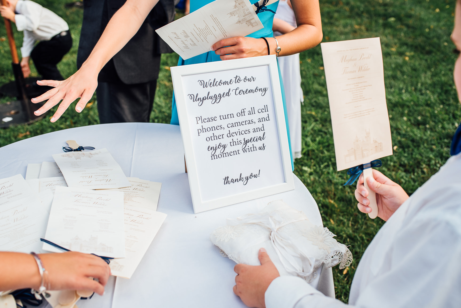 ceremony program at lyndhurst castle photographed by traverse the tides