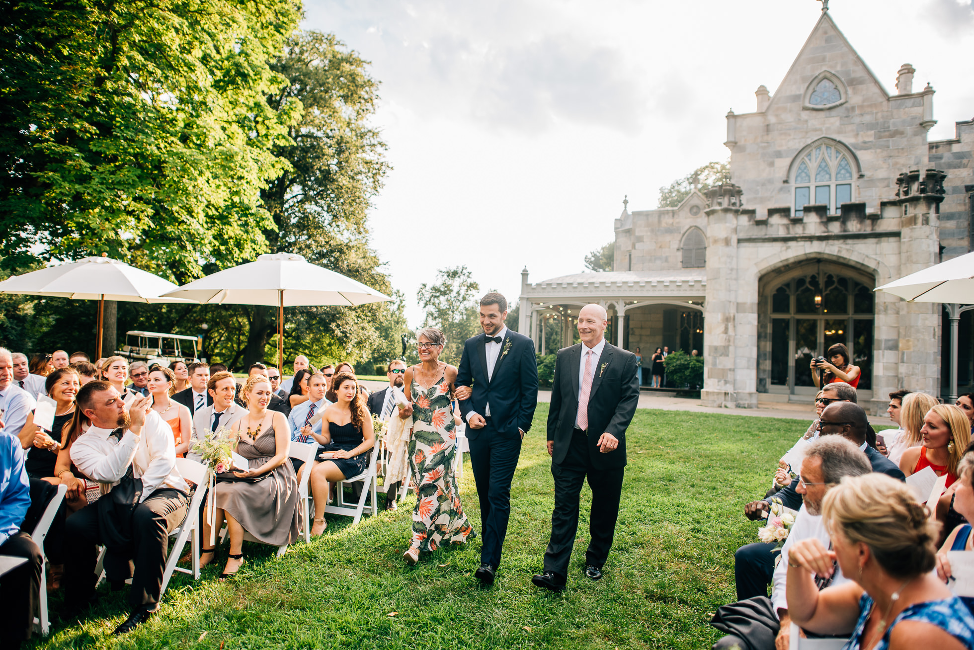 groom entrance at lyndhurst castle photographed by traverse the tides