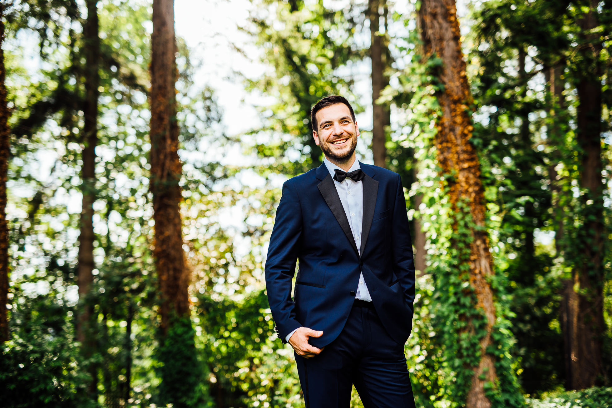 groom portrait at lyndhurst castle photographed by traverse the tides
