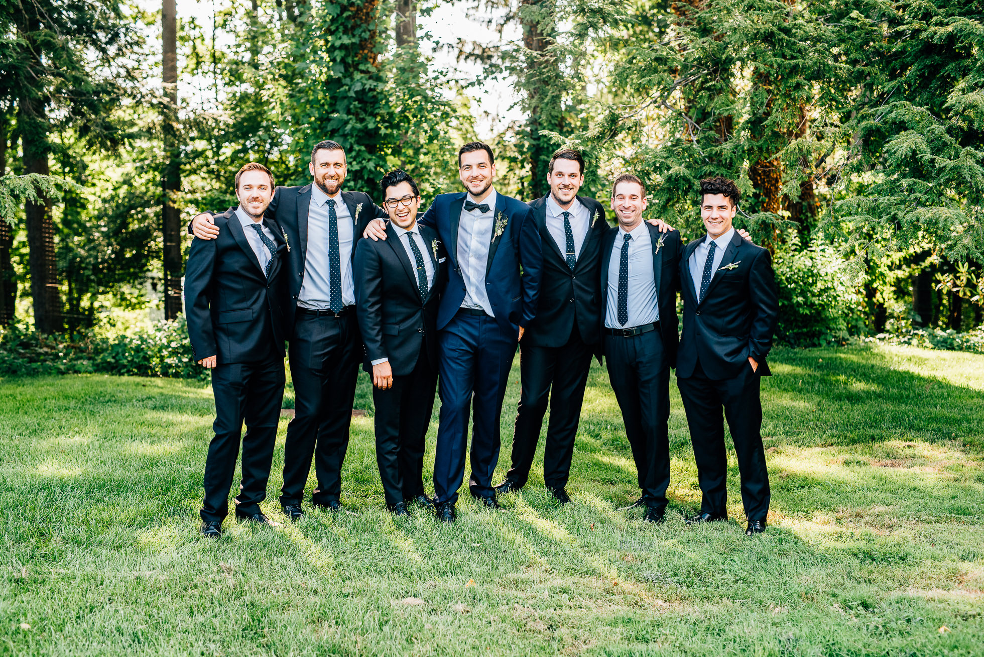 groomsmen at lyndhurst castle photographed by traverse the tides
