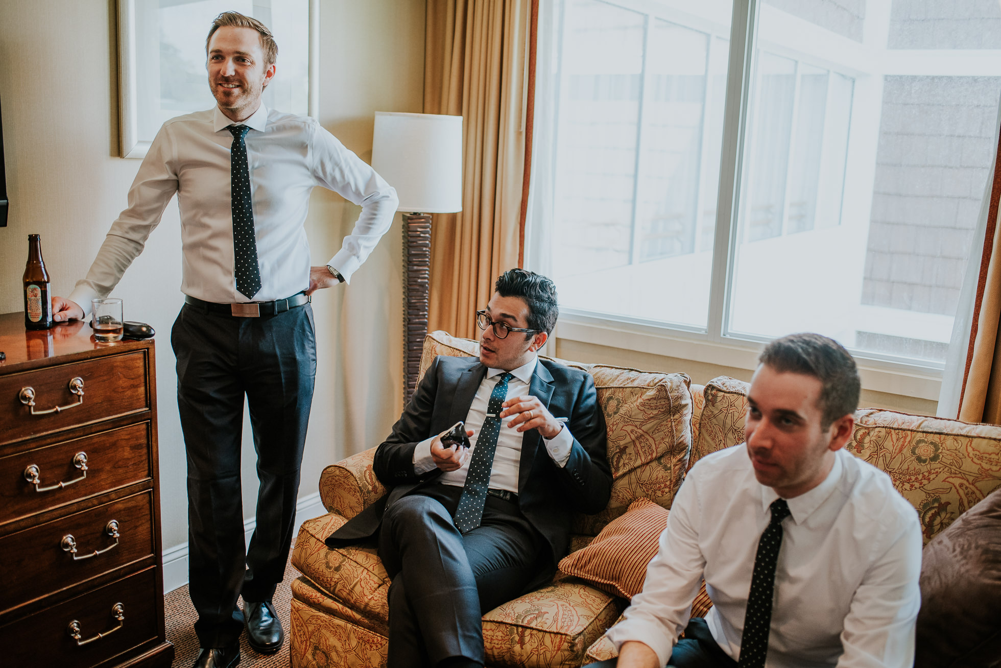 groomsmen lyndhurst castle wedding photographed by traverse the tides