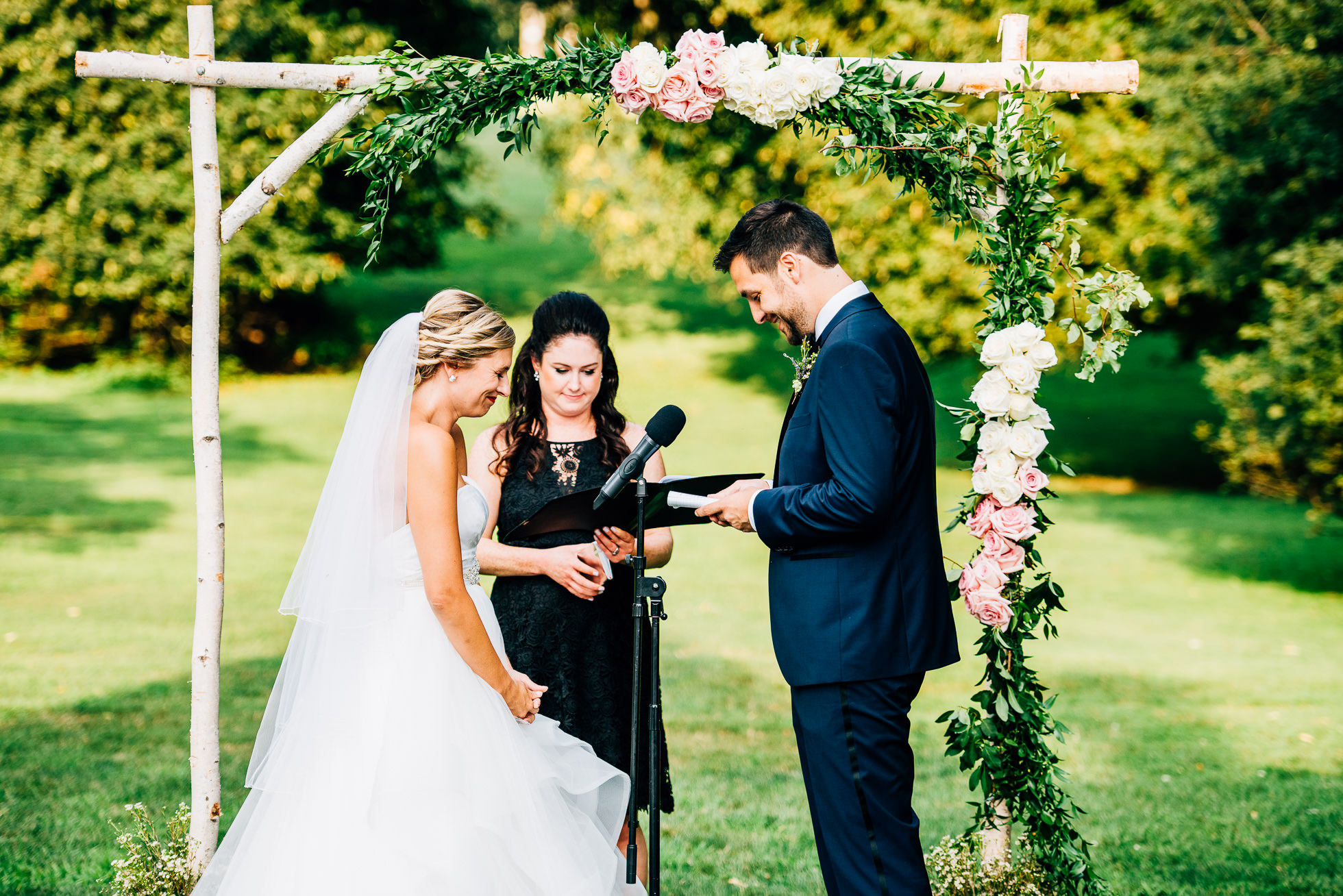 wedding vows at lyndhurst castle photographed by traverse the tides
