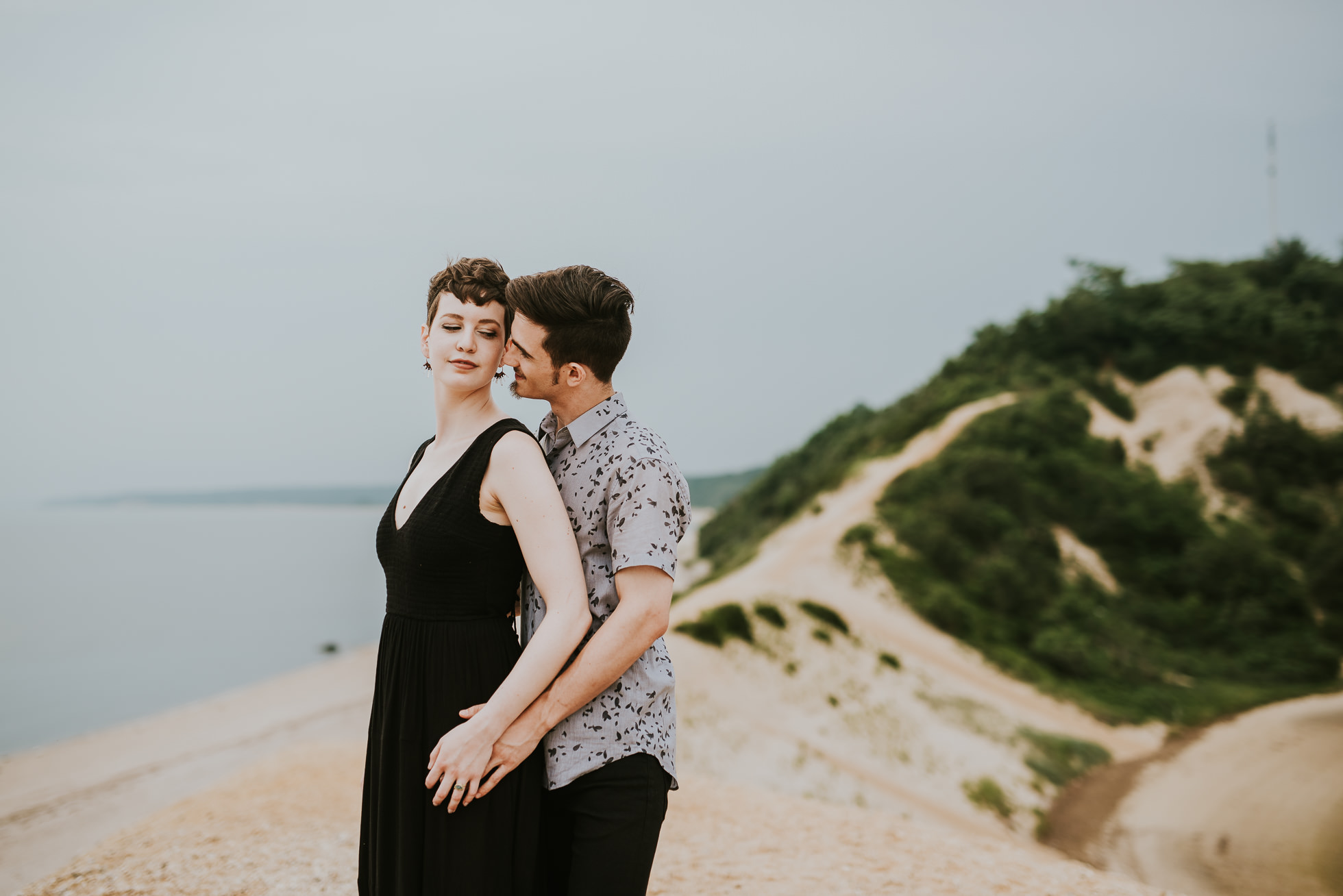 intimate engagement photographed by traverse the tides
