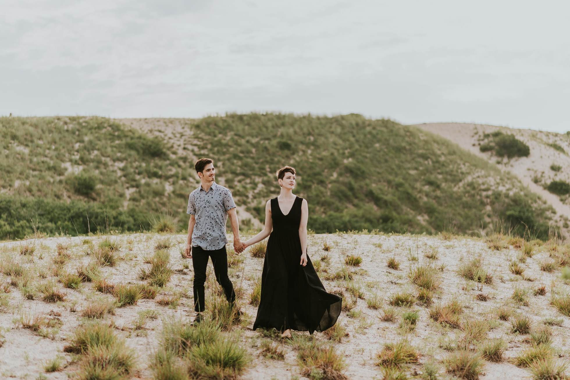 romantic engagement session long island photographed by traverse the tides