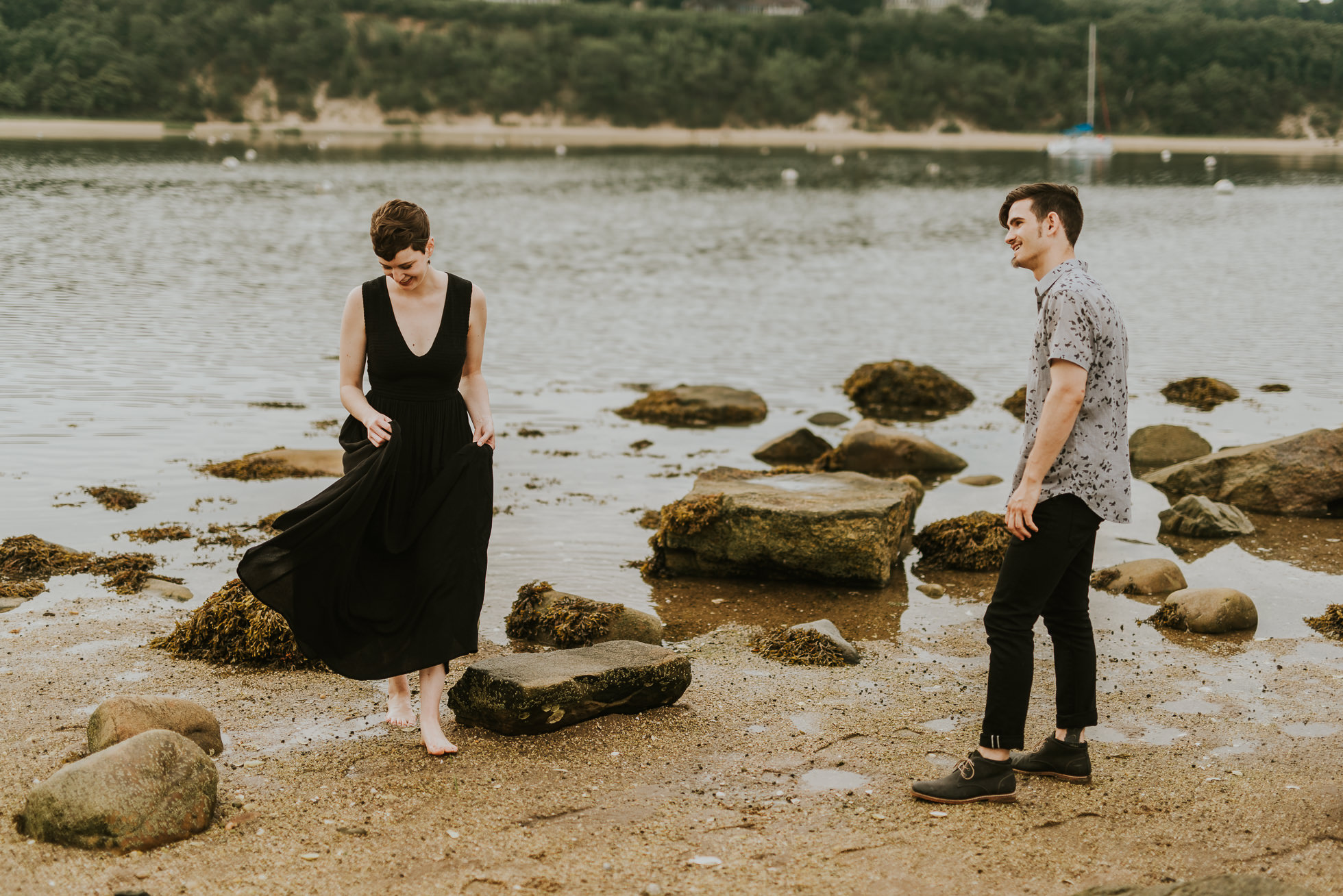 candid engagement photos photographed by traverse the tides