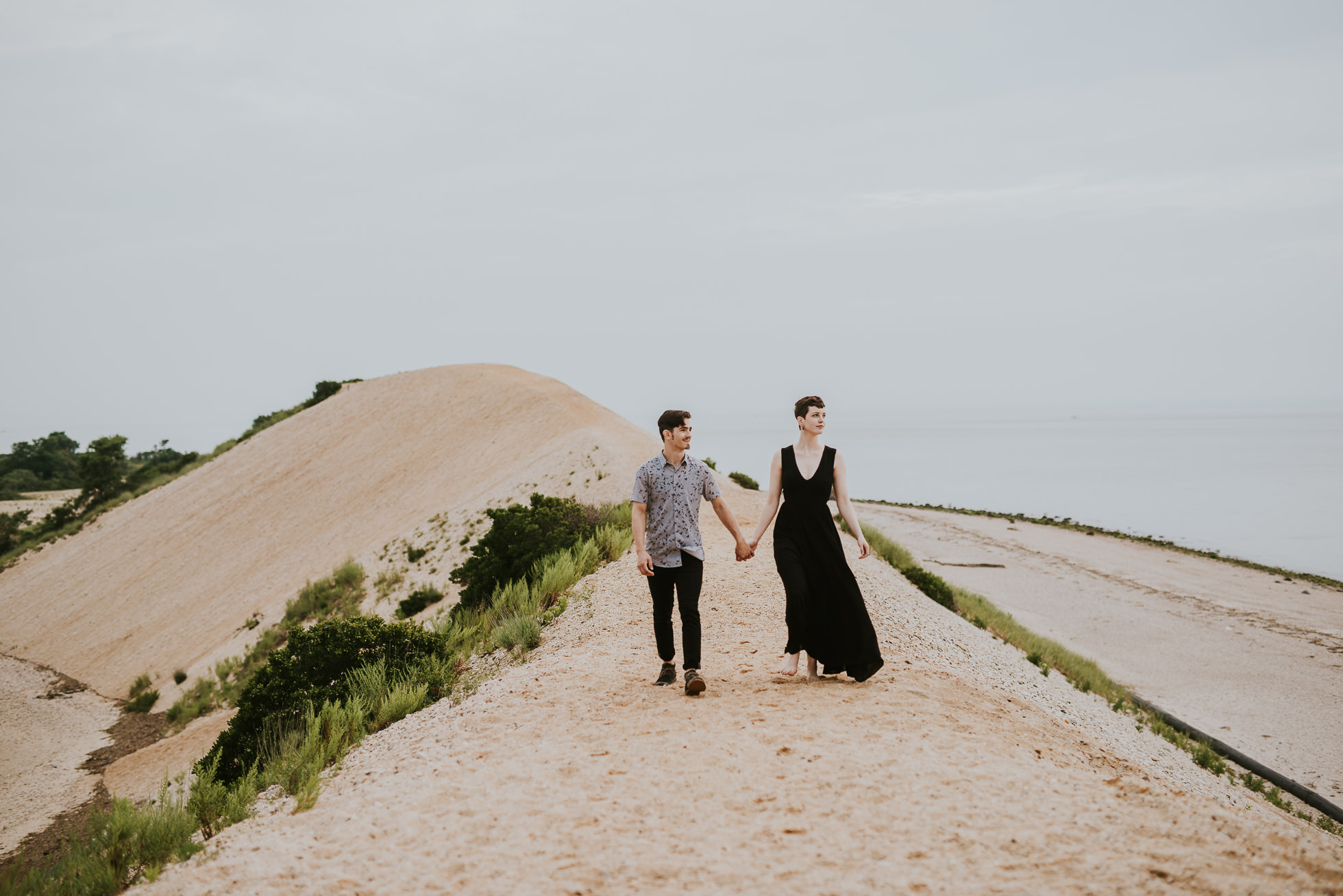 unique engagement session photographed by traverse the tides