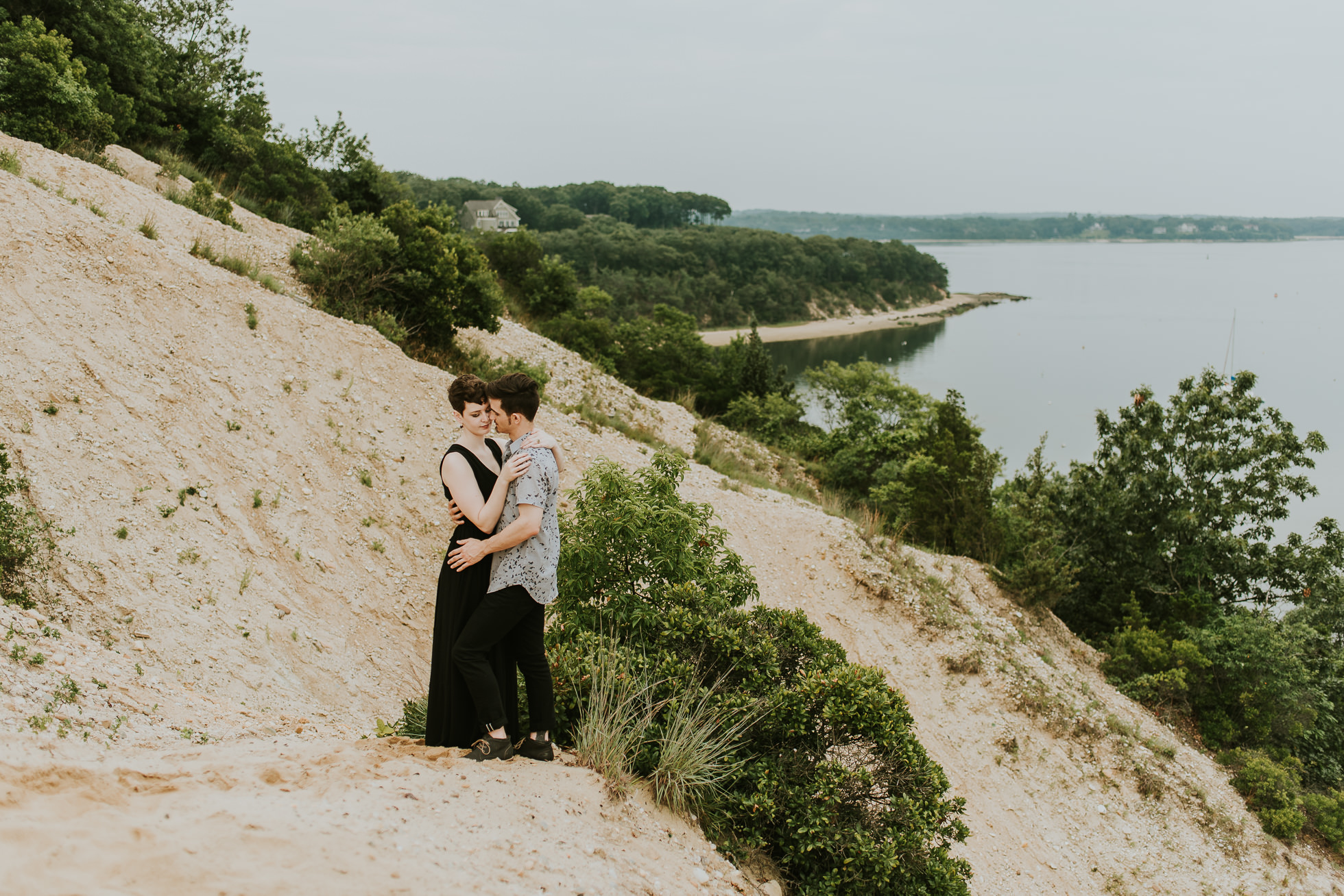 sand dunes engagement photos photographed by traverse the tides