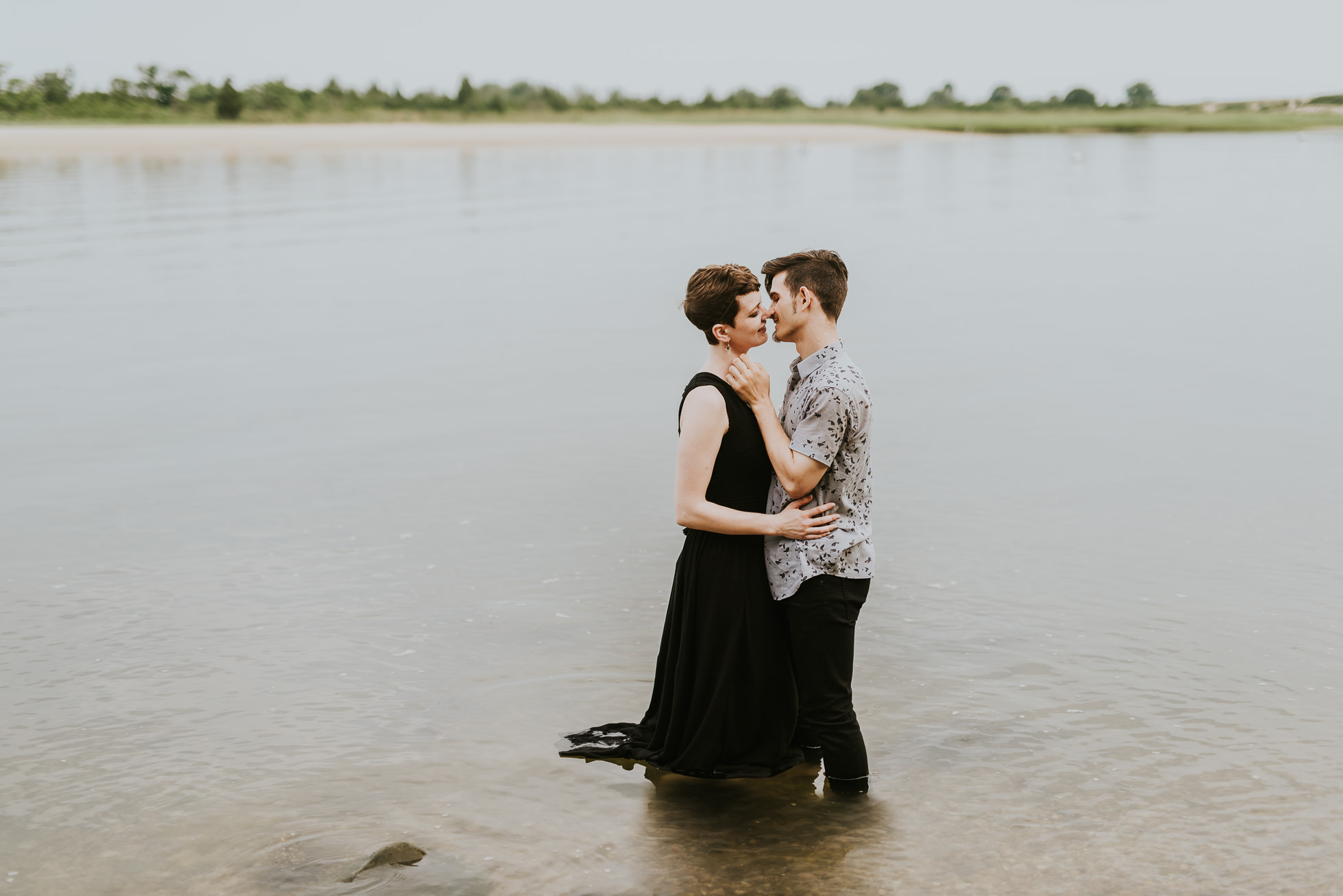 wedding photos in water photographed by traverse the tides
