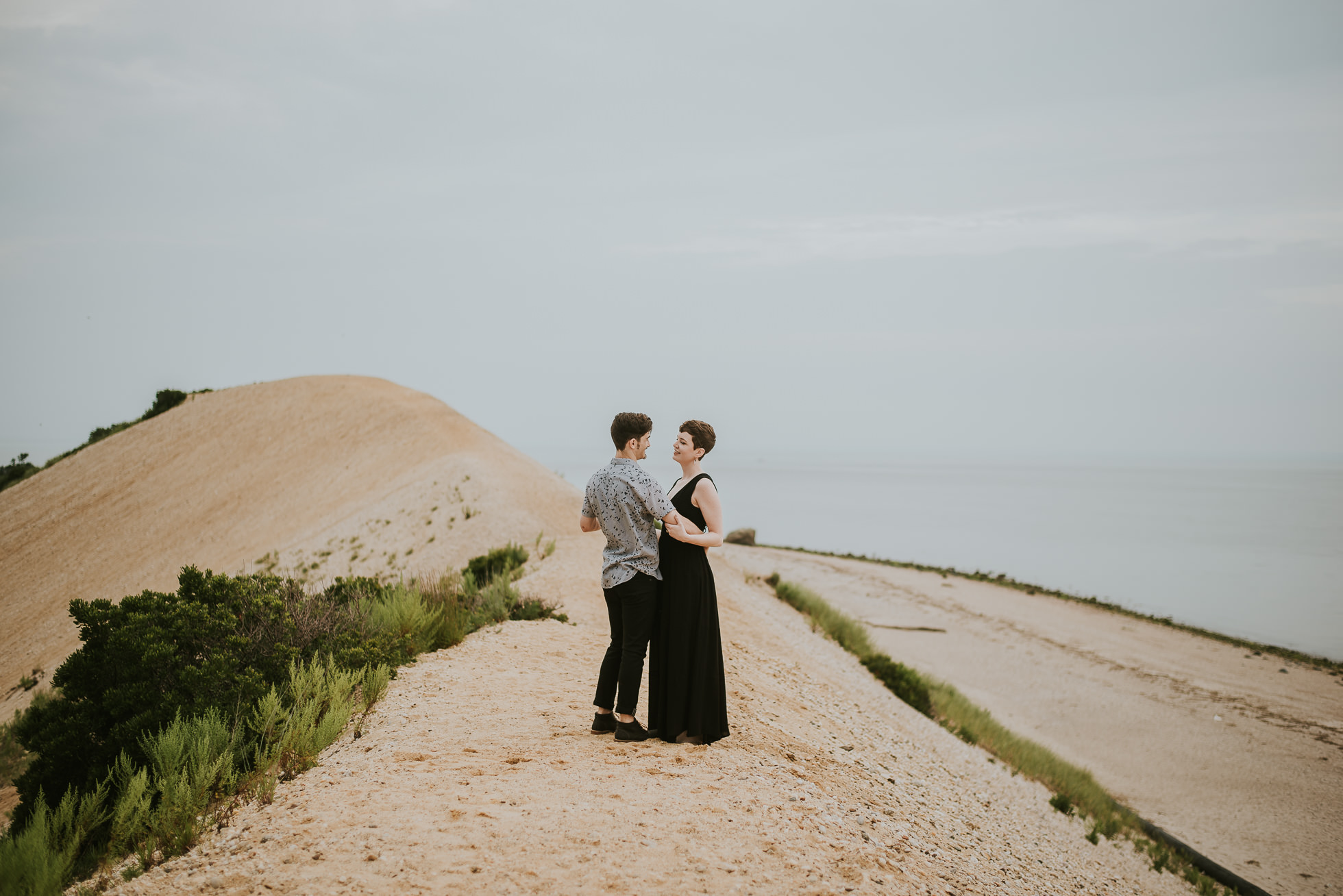 natural engagement photos photographed by traverse the tides