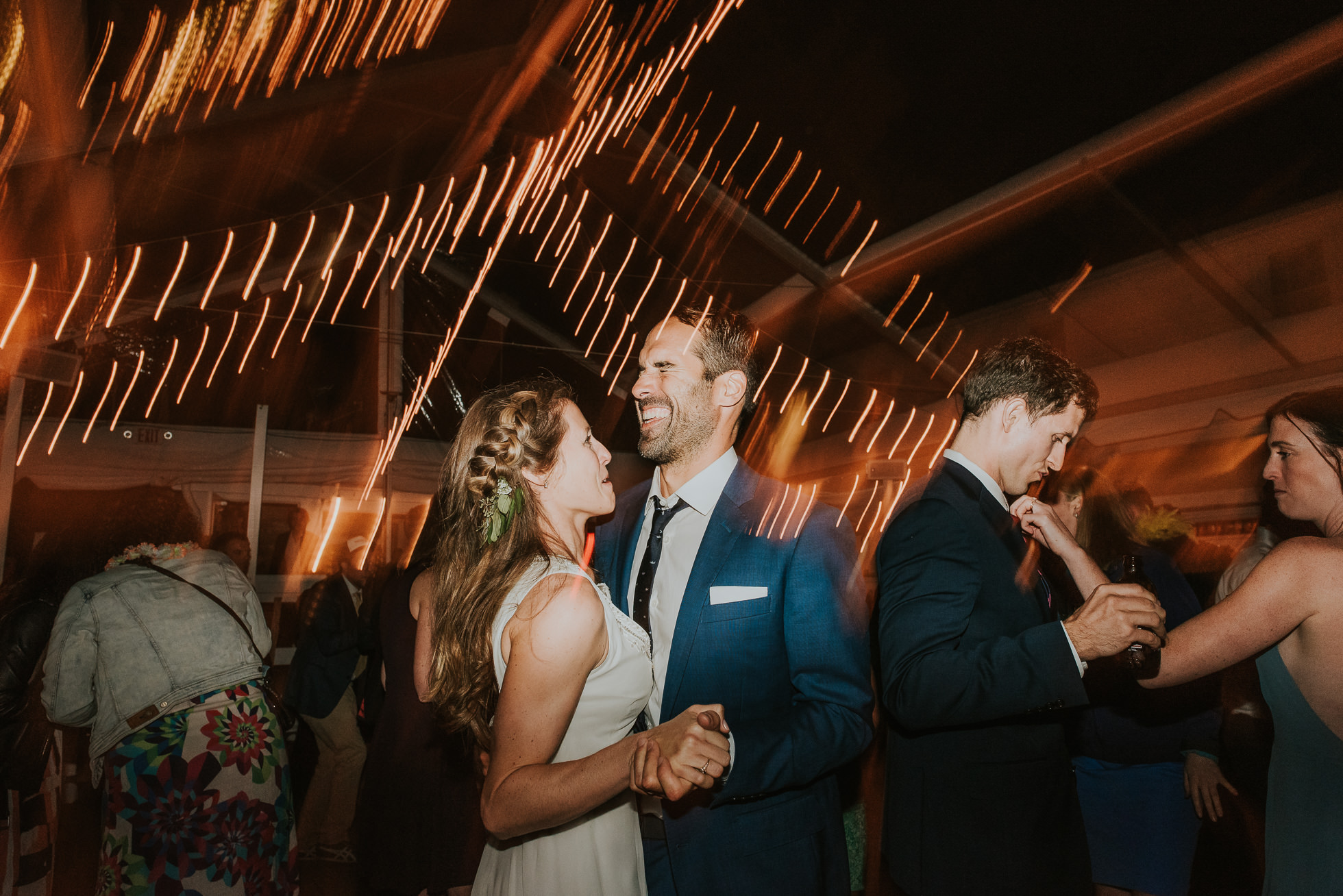 bride and groom dancing at the surf lodge reception Montauk wedding photographed by Traverse the Tides