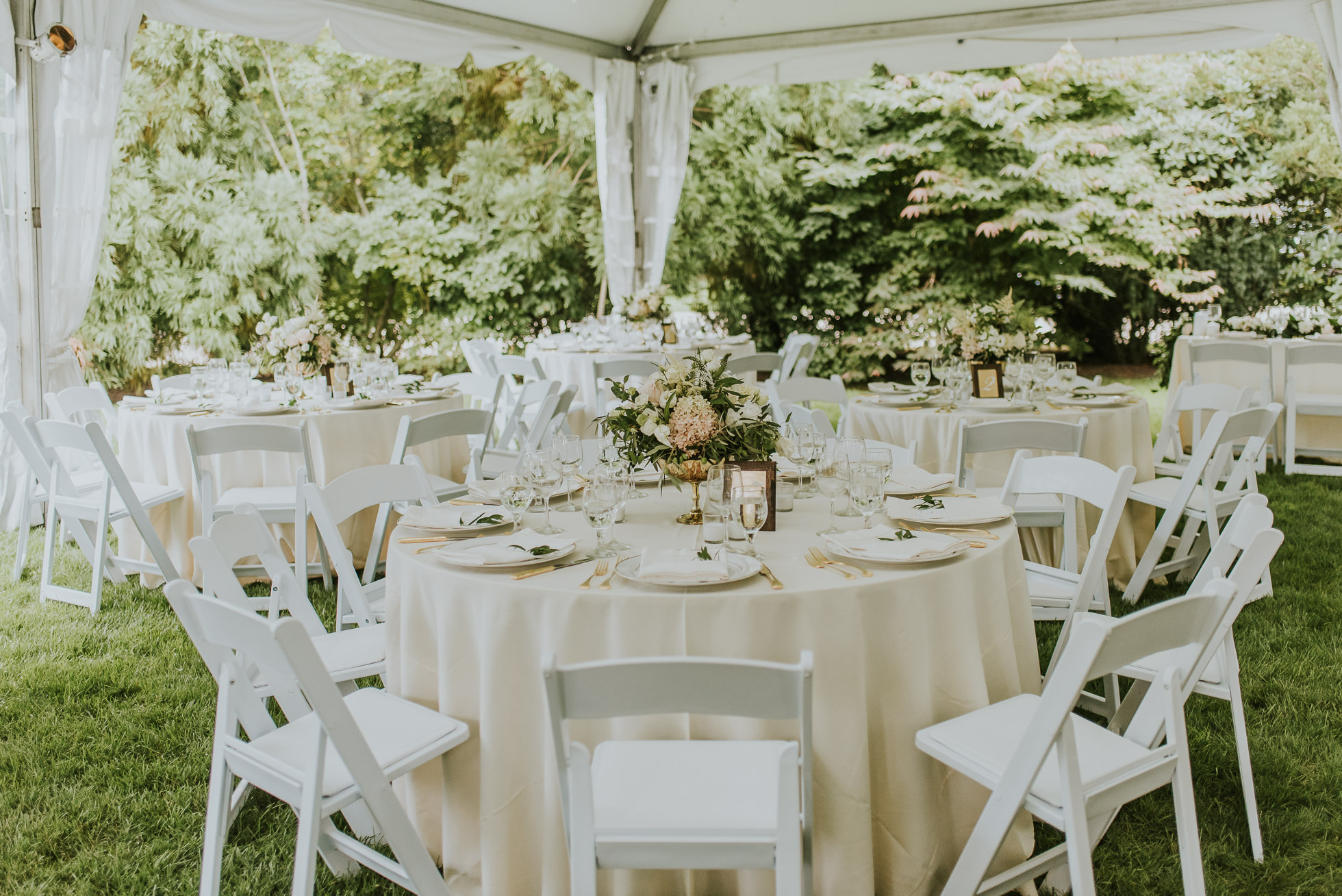 Long Island tent wedding decor