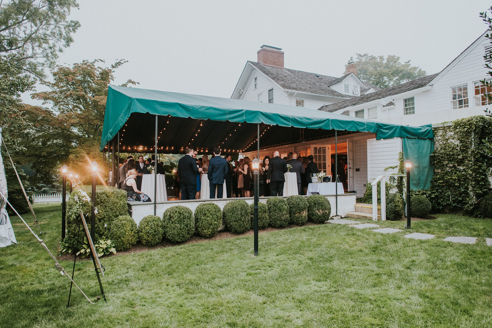 outdoor wedding reception the hamptons