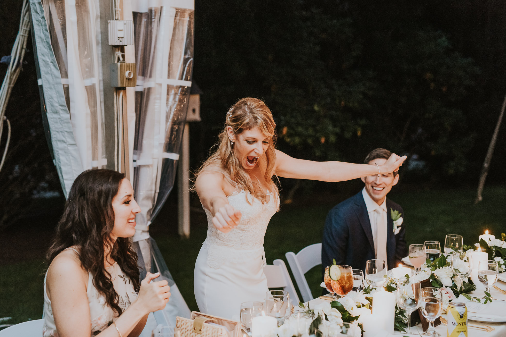 outdoor tent wedding reception the hamptons