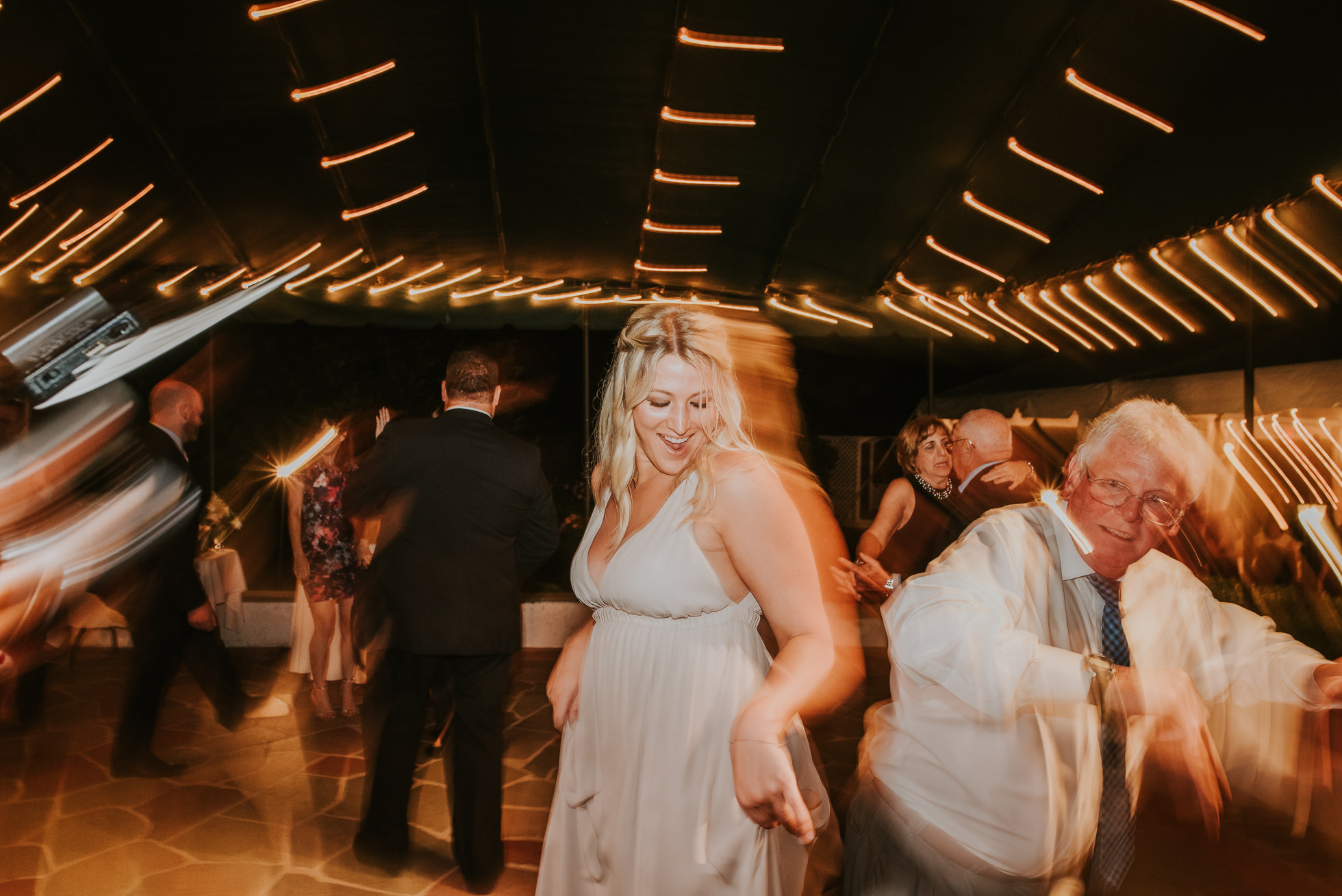 wild guests dancing the hedges inn wedding