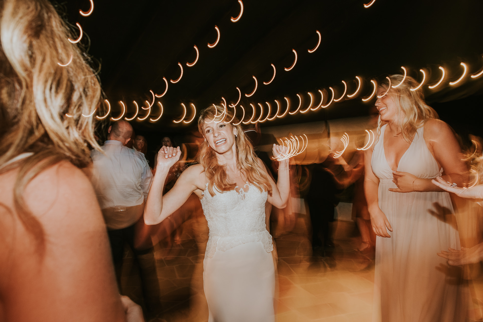 bride dancing the hamptons wedding reception
