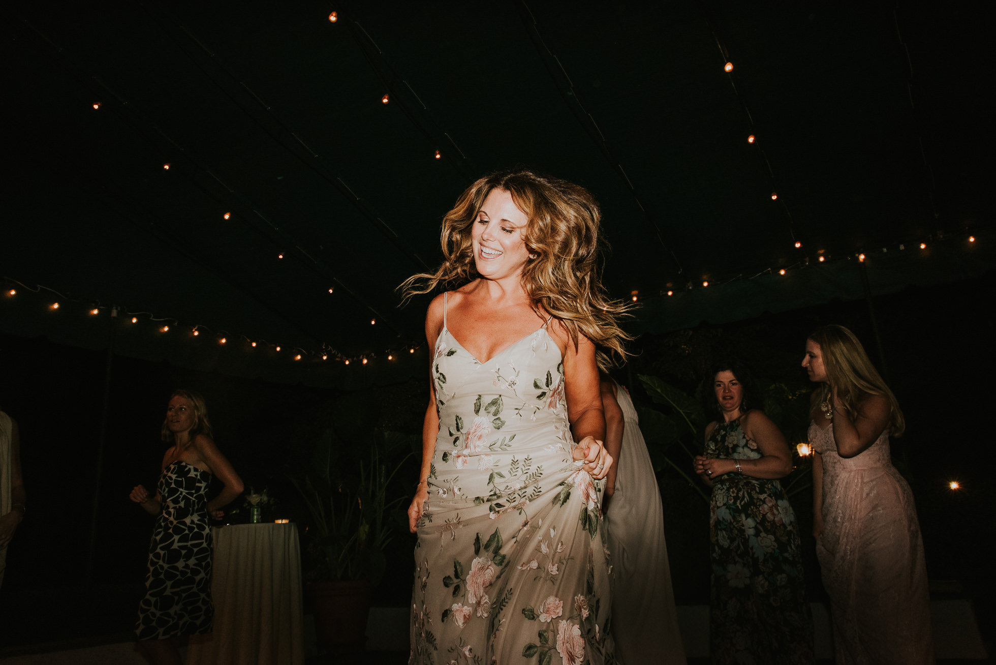 maid of honor dancing long island wedding