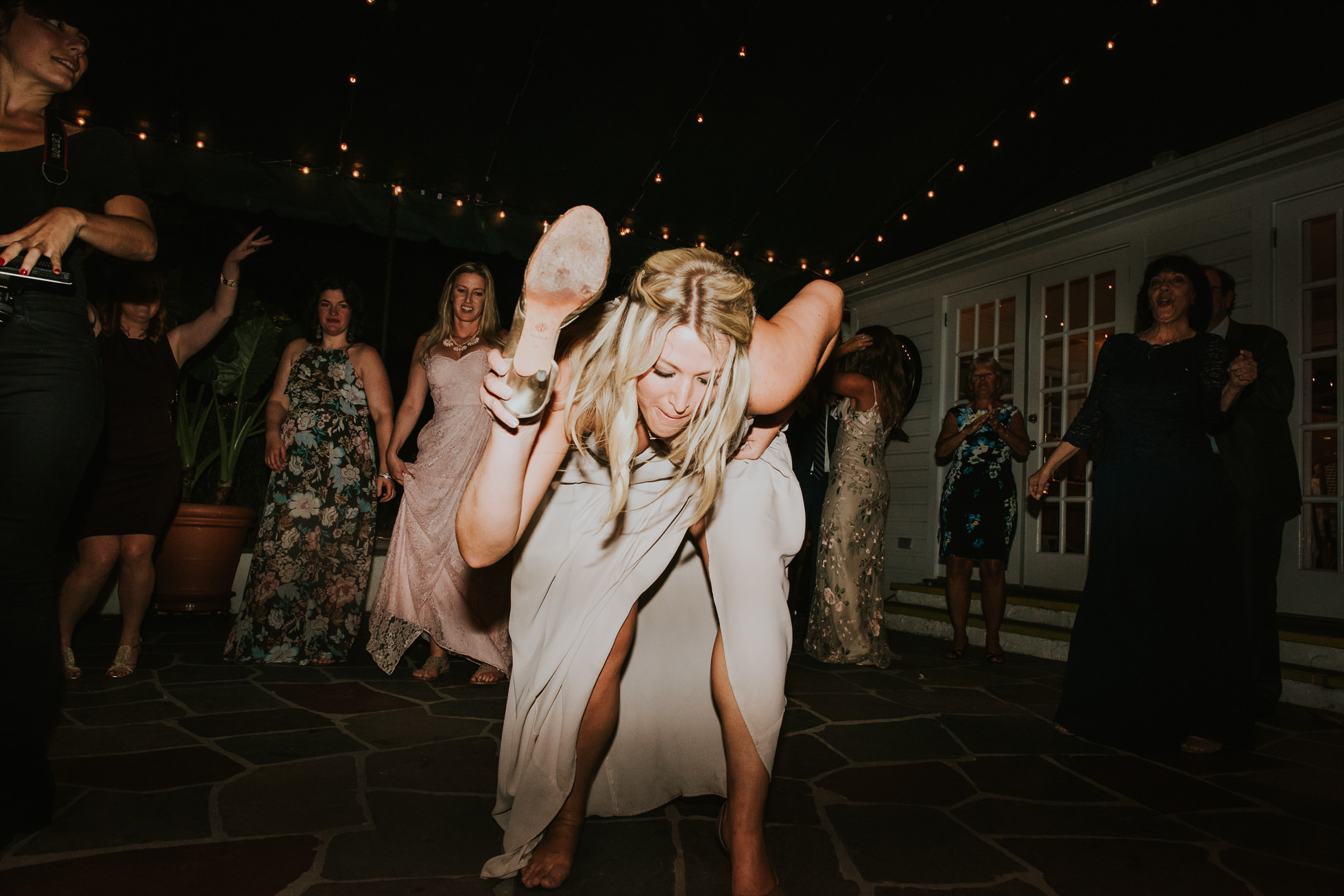 bridesmaid dancing long island wedding