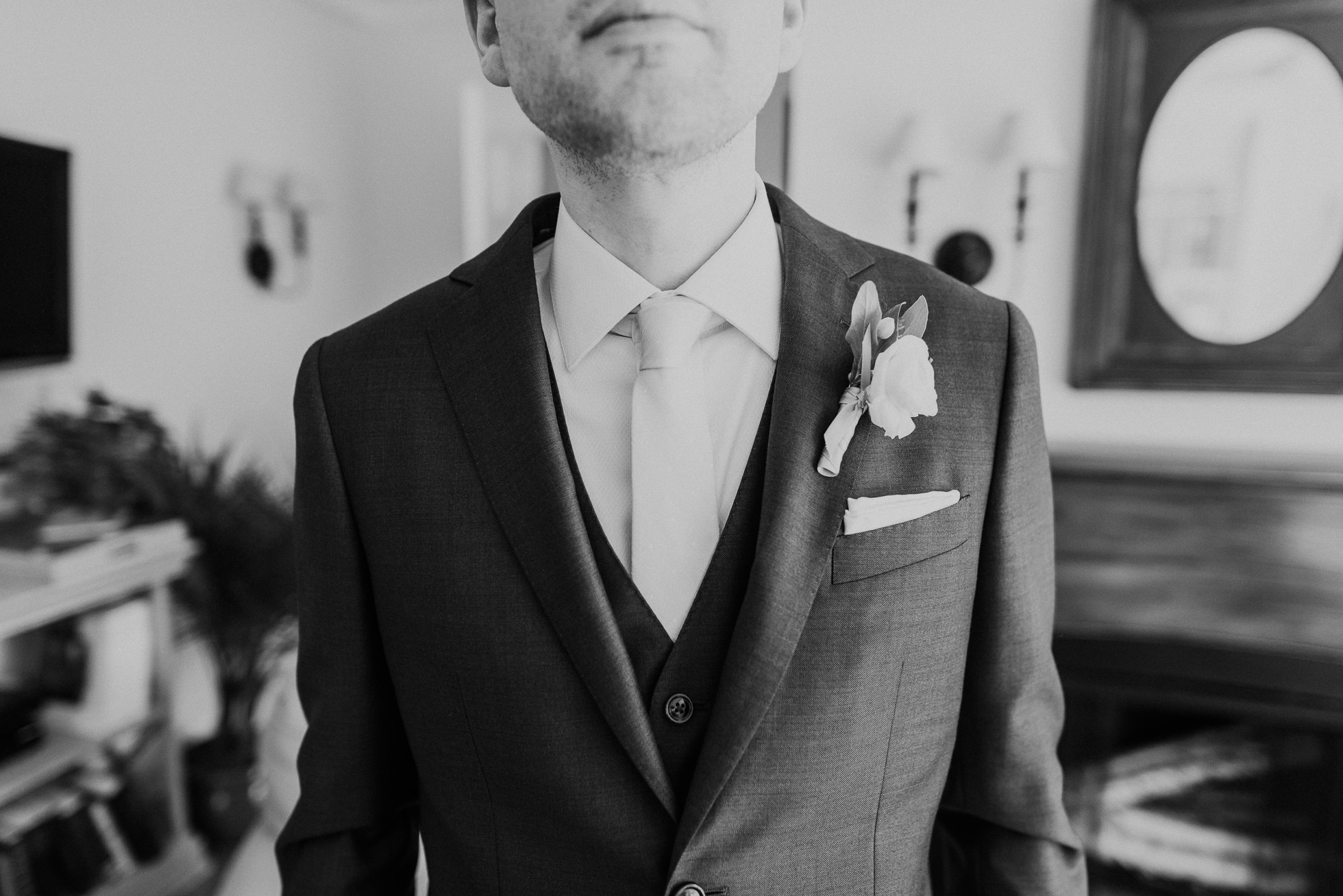 grooms boutonniere The Hedges Inn