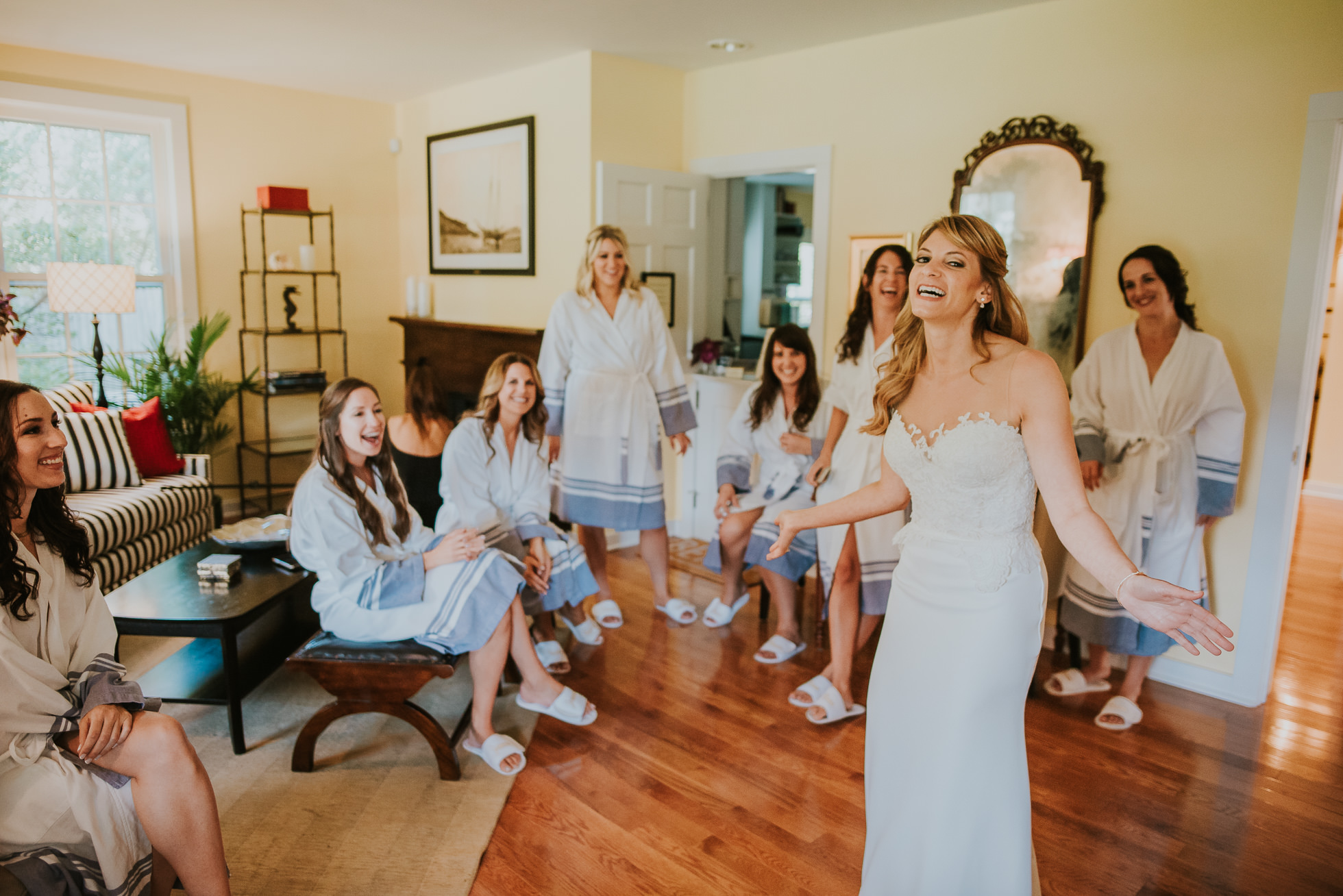 bridal and girls Long Island wedding