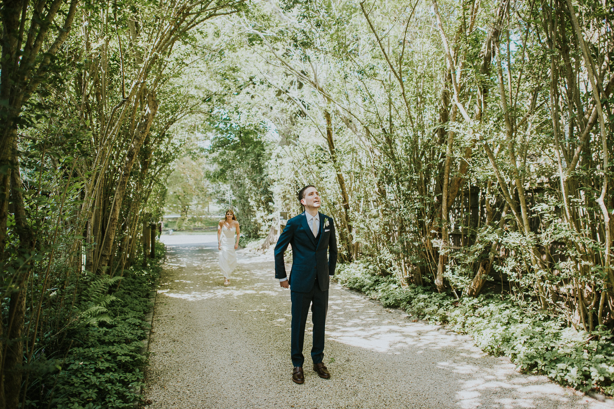 first look East Hamptons wedding