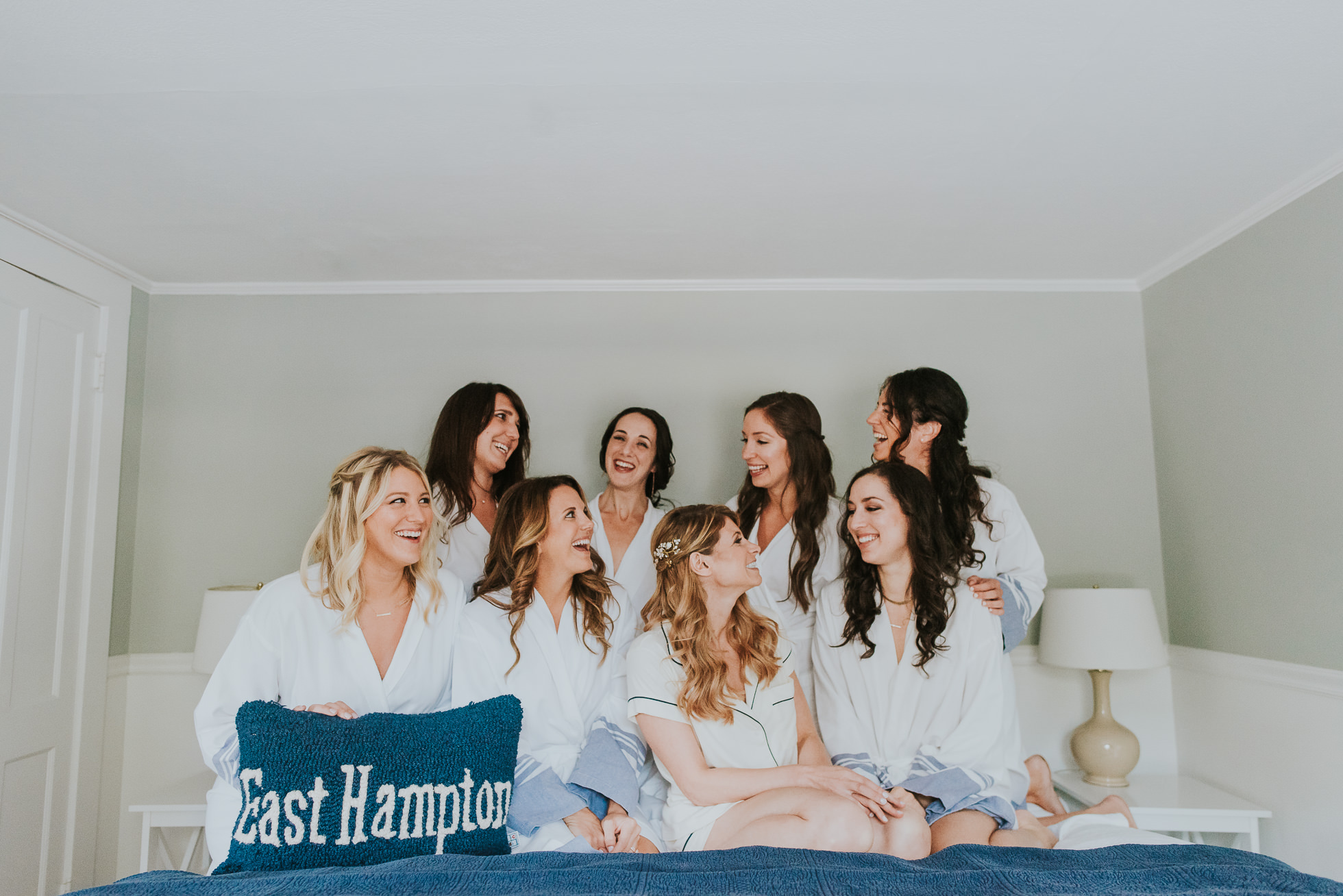 bridal party getting ready The Hamptons