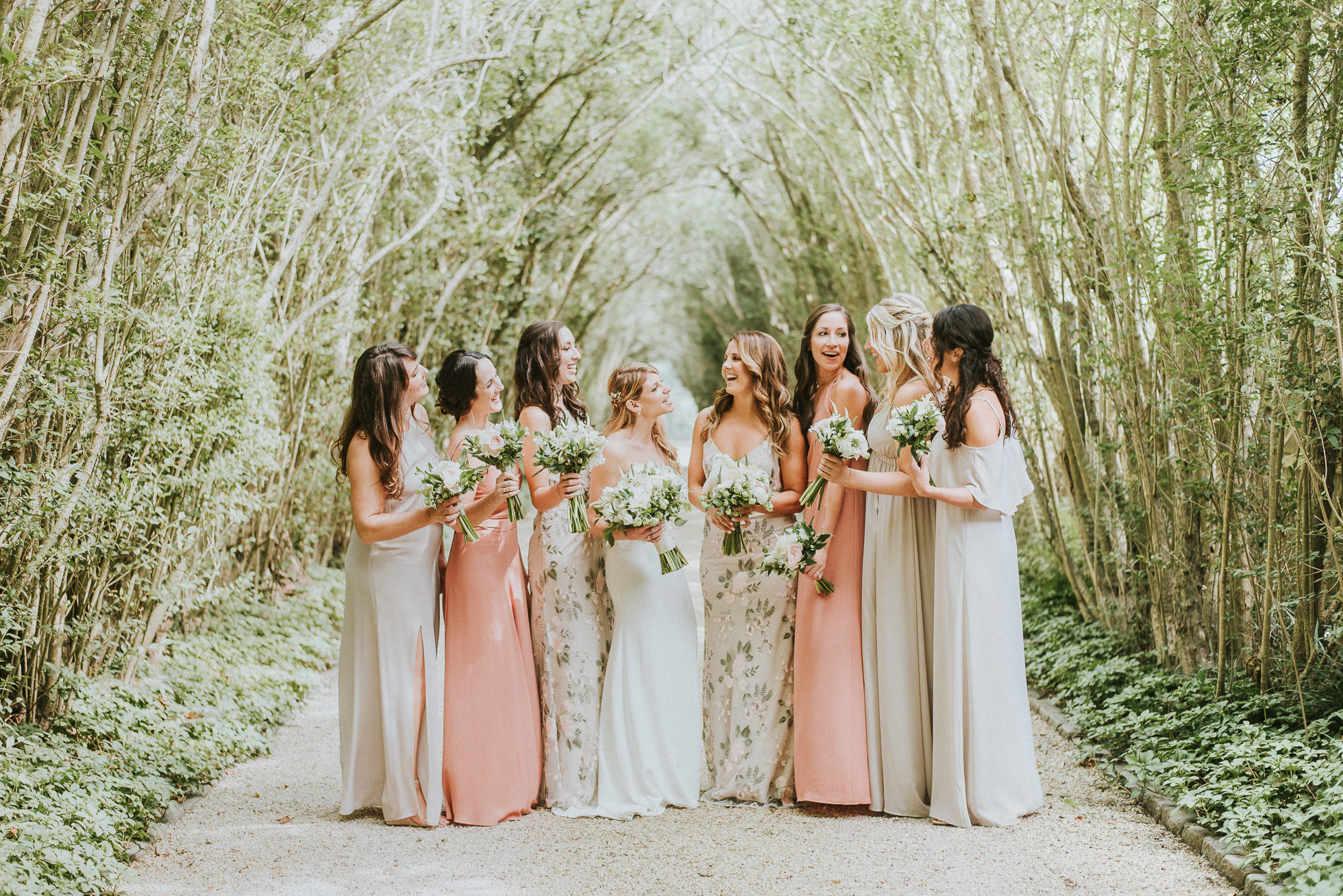 bridal party dress ideas the hamptons wedding