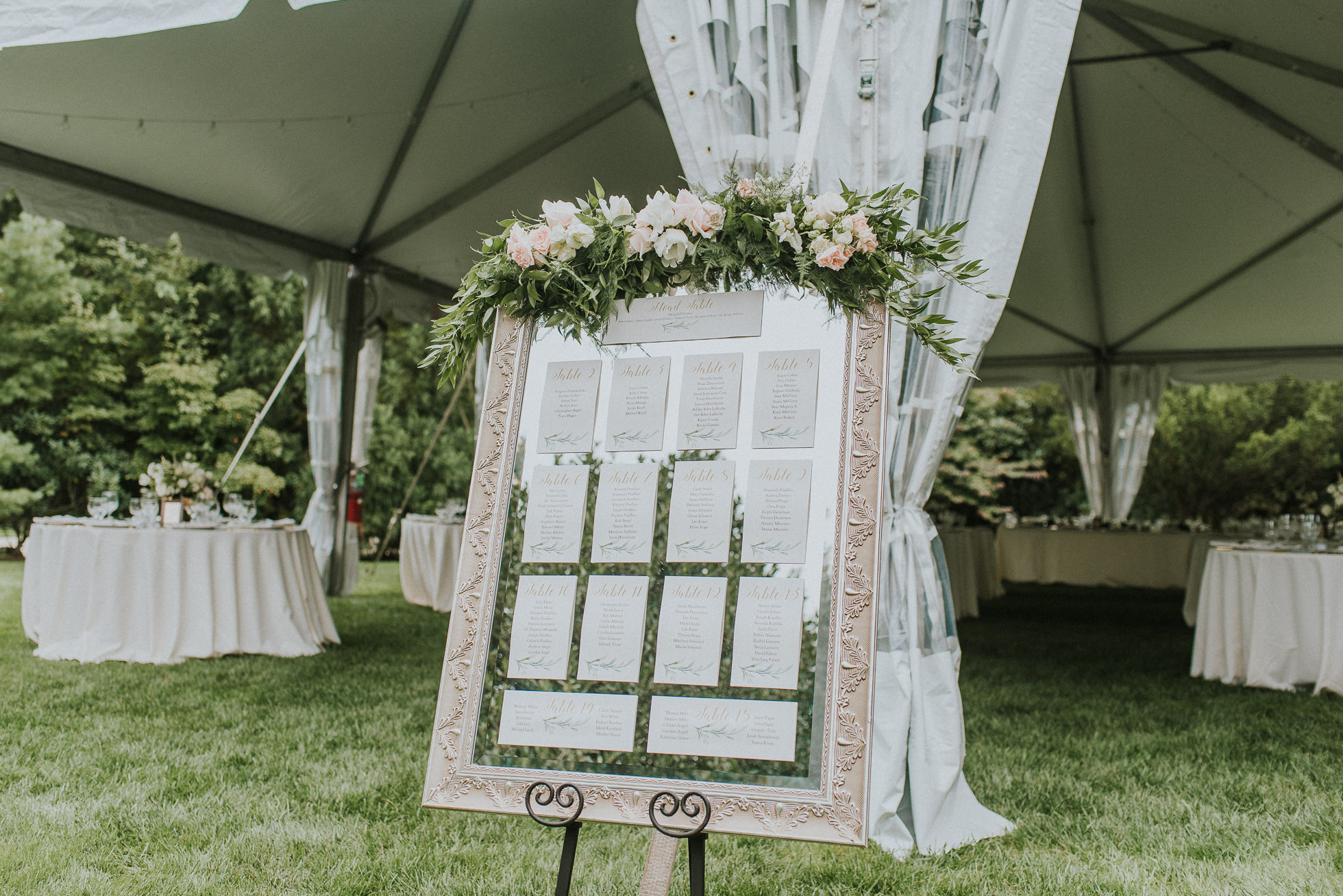 wedding seating charts Long Island