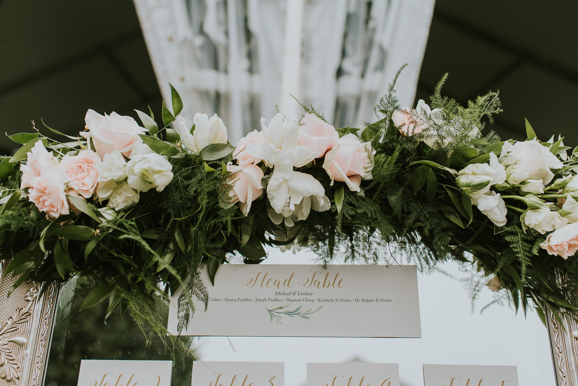 mirror wedding seating charts Long Island