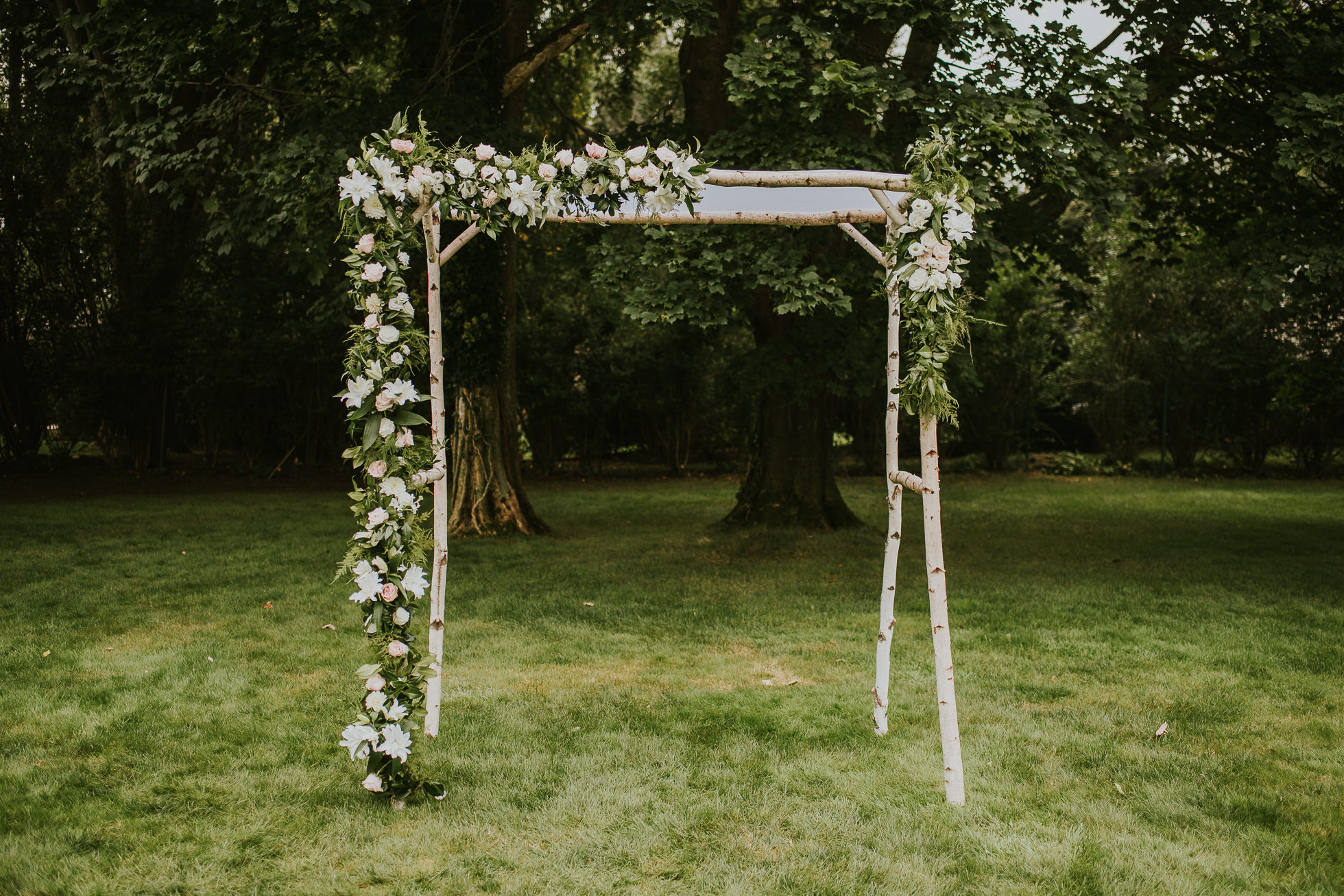 rustic wedding arch flowers long island