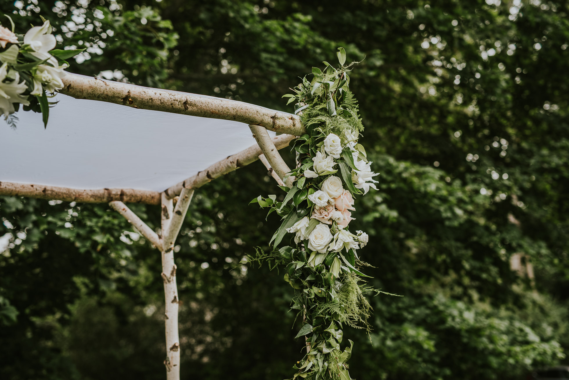 rustic wedding arch flowers the hamptons