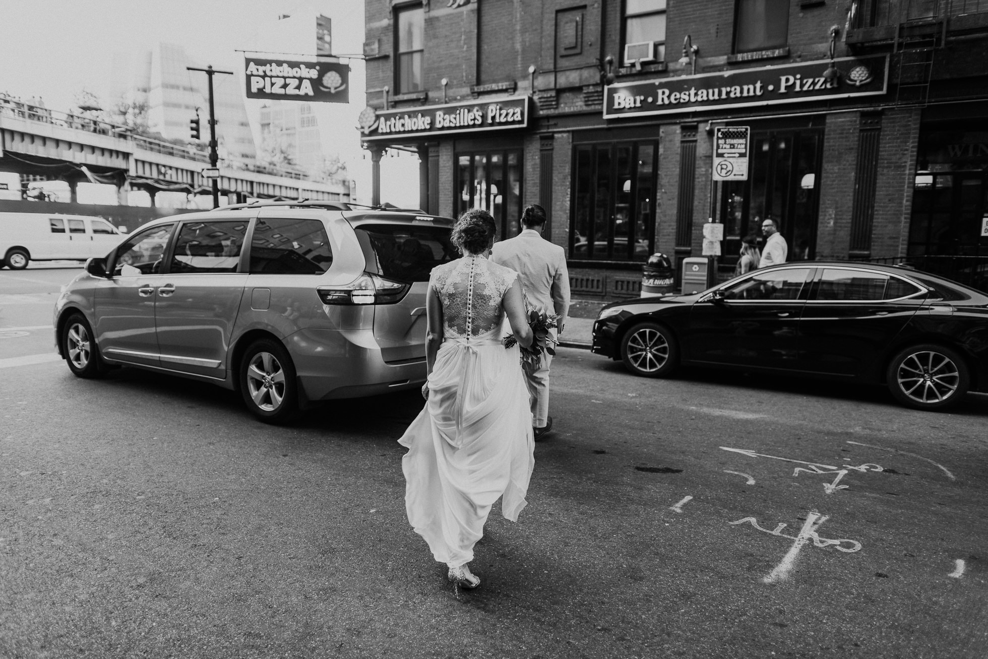 black and white wedding photos nyc