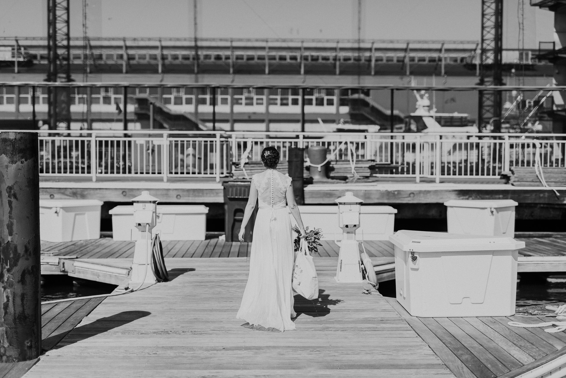 bride at chelsea piers
