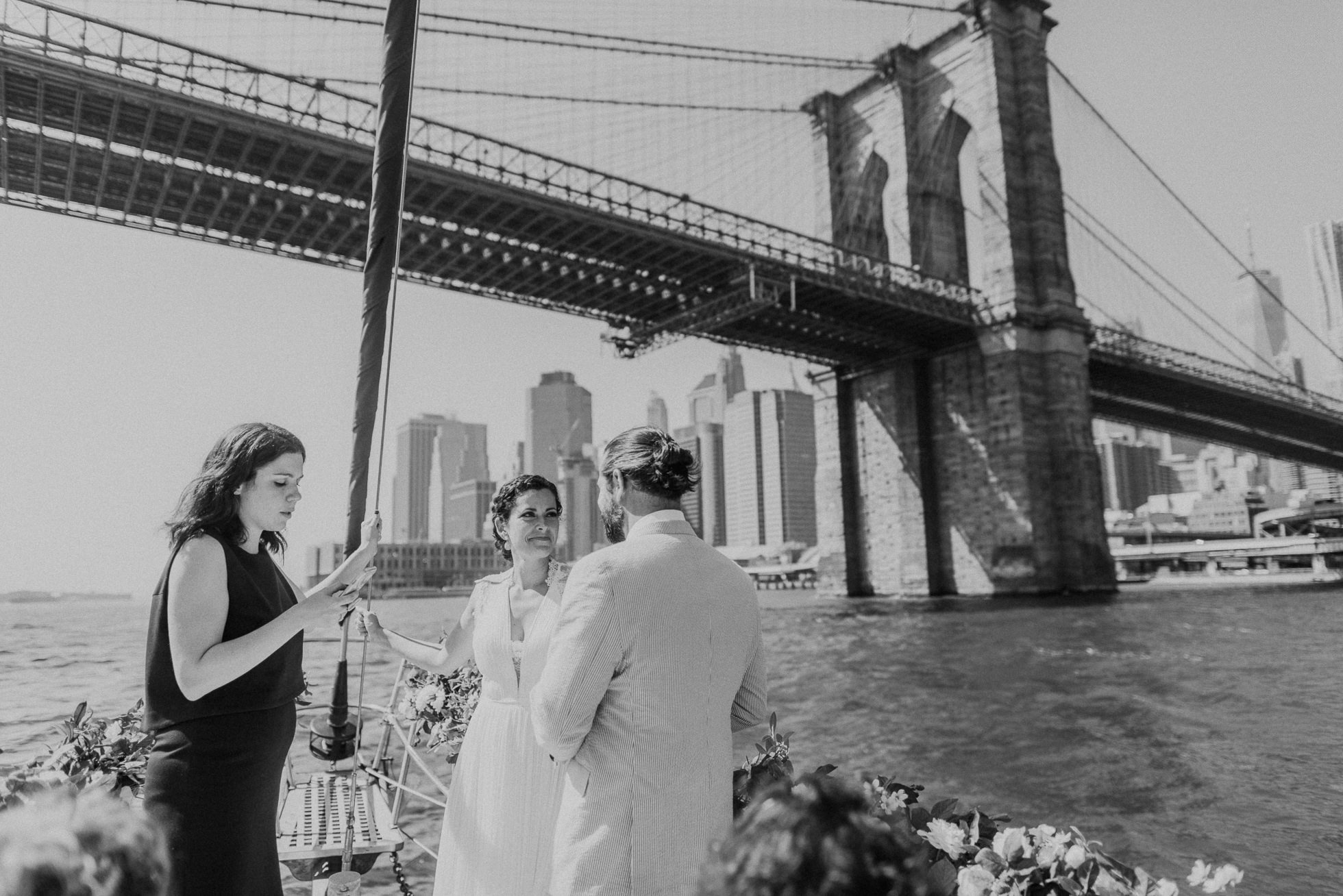 brooklyn bridge boat wedding