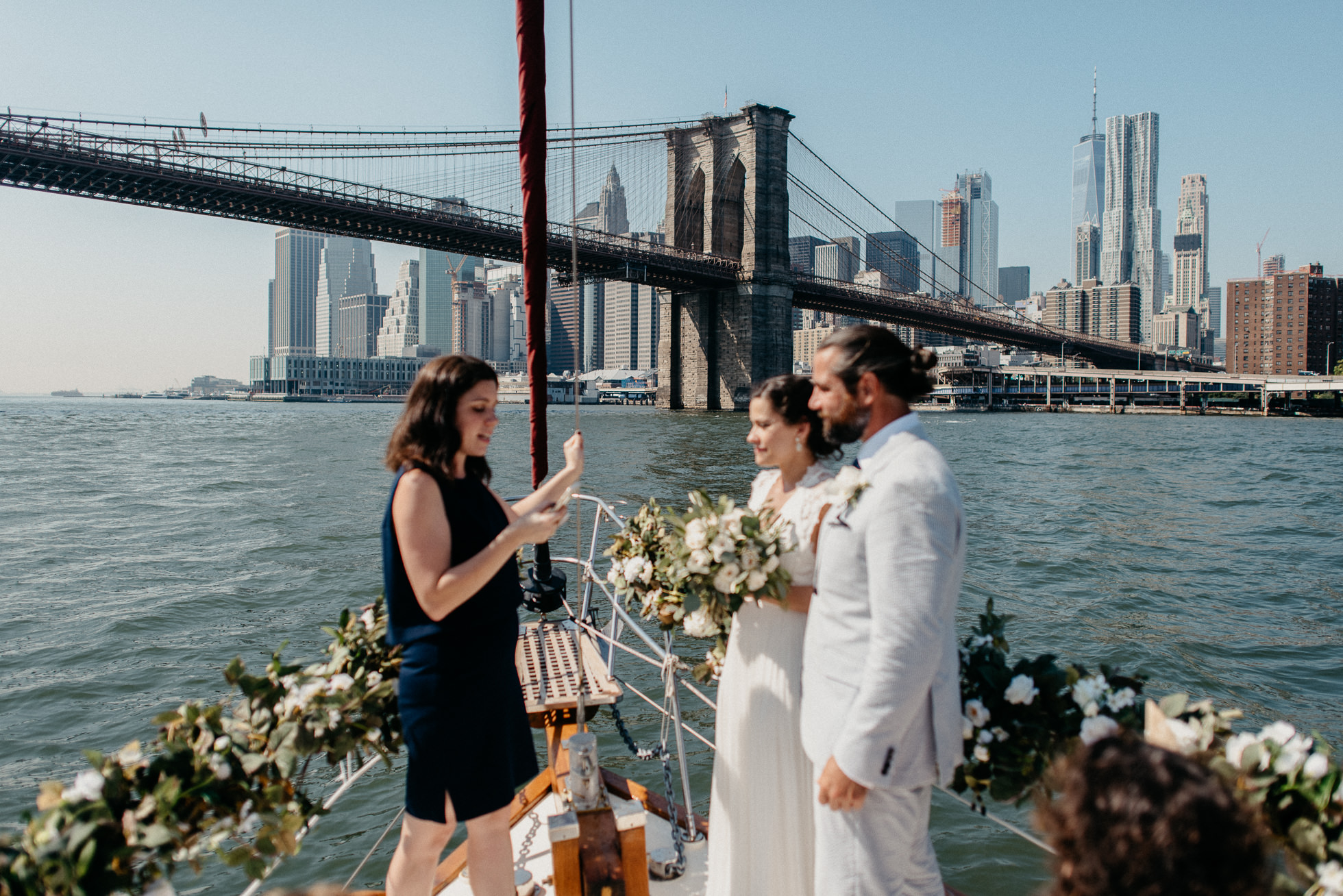 brooklyn bridge yacht wedding