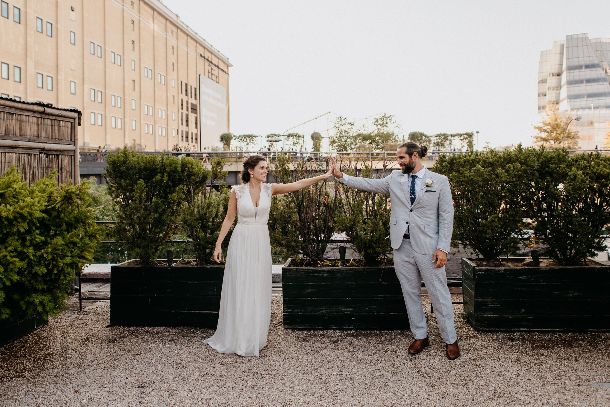 Manhattan rooftop wedding photos