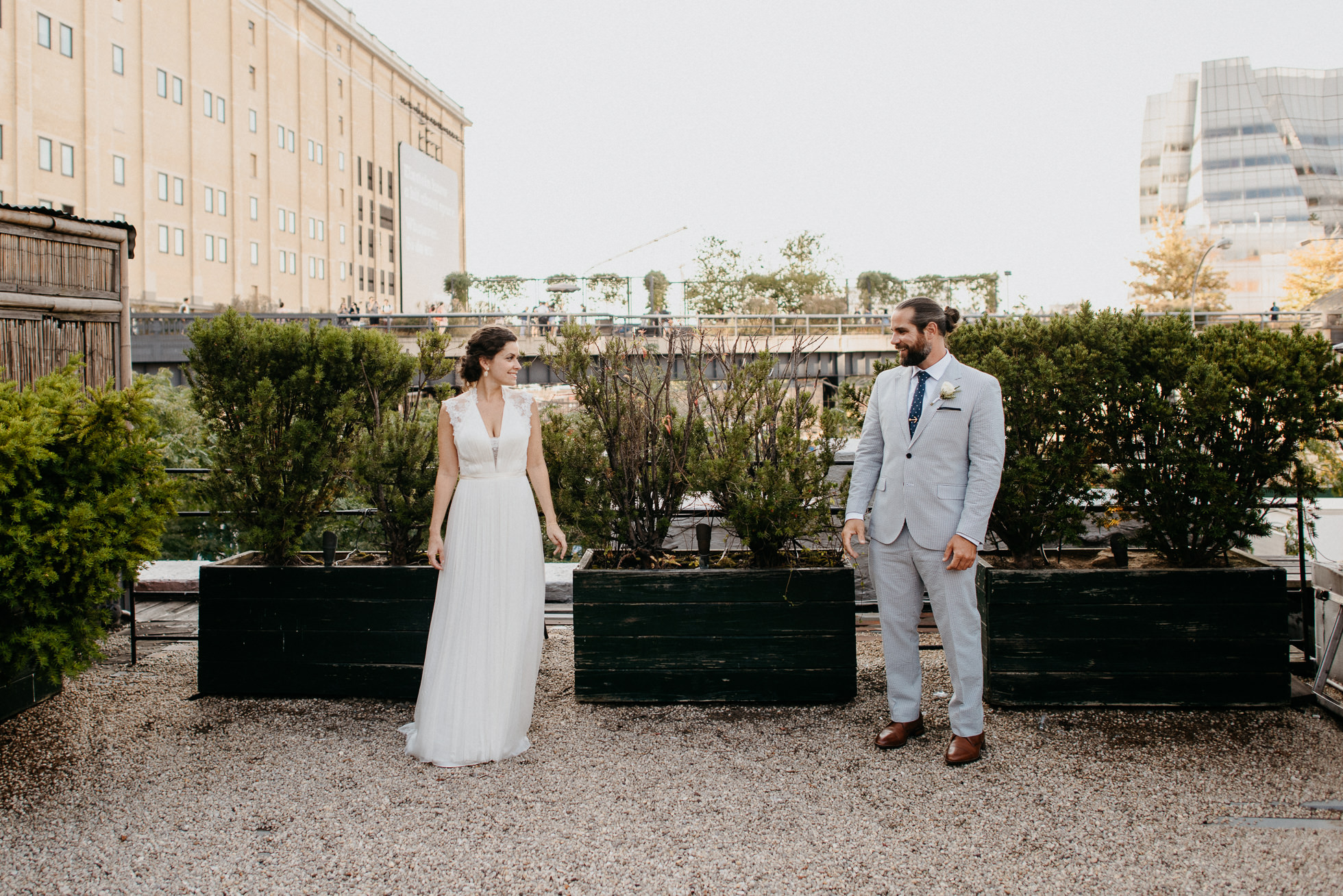 NYC rooftop wedding photos