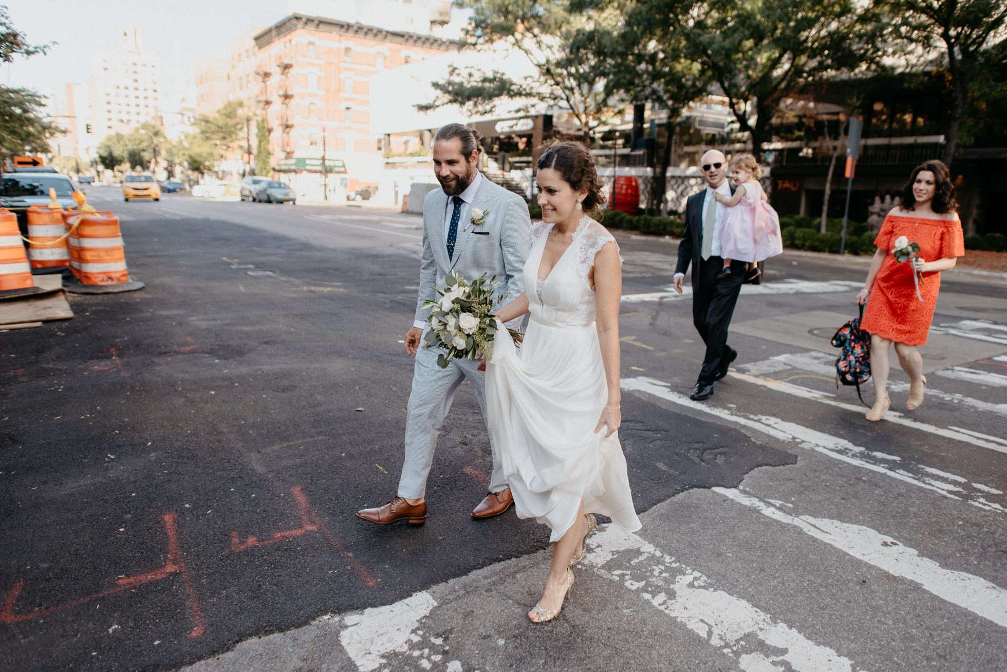NYC street wedding photos