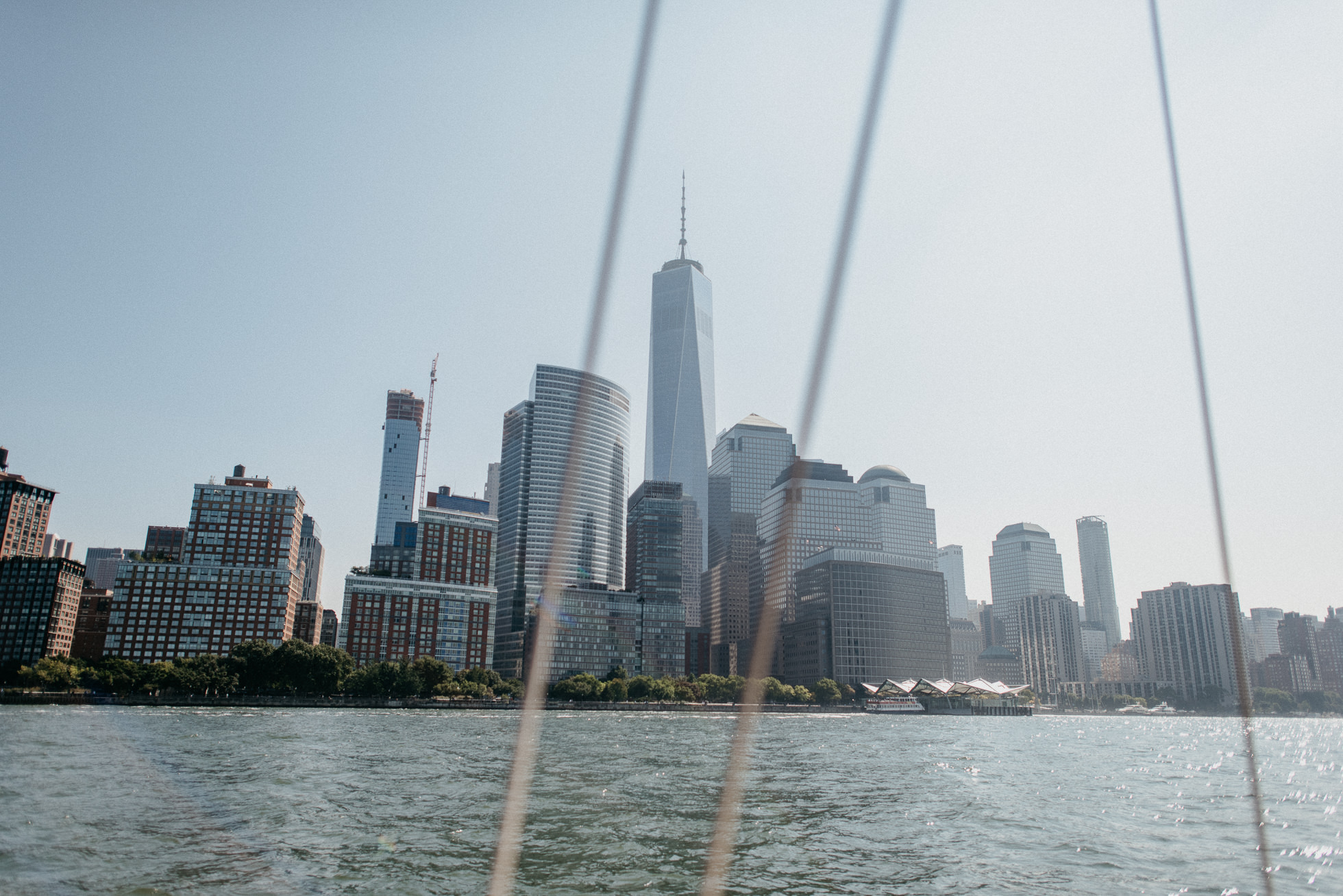 view of world trade center from harlem river