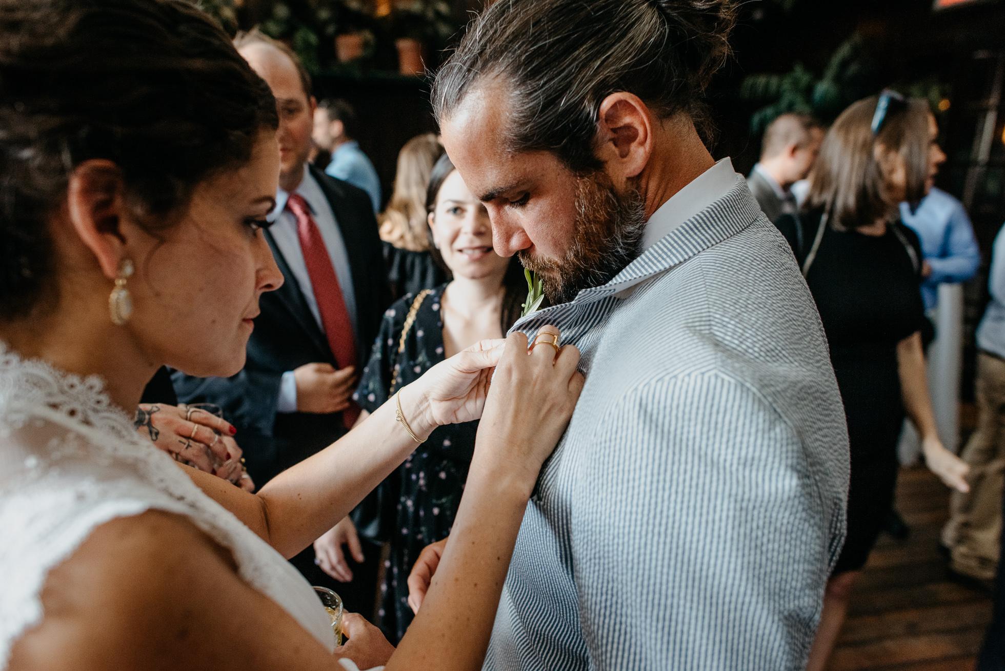 wedding reception bride and groom