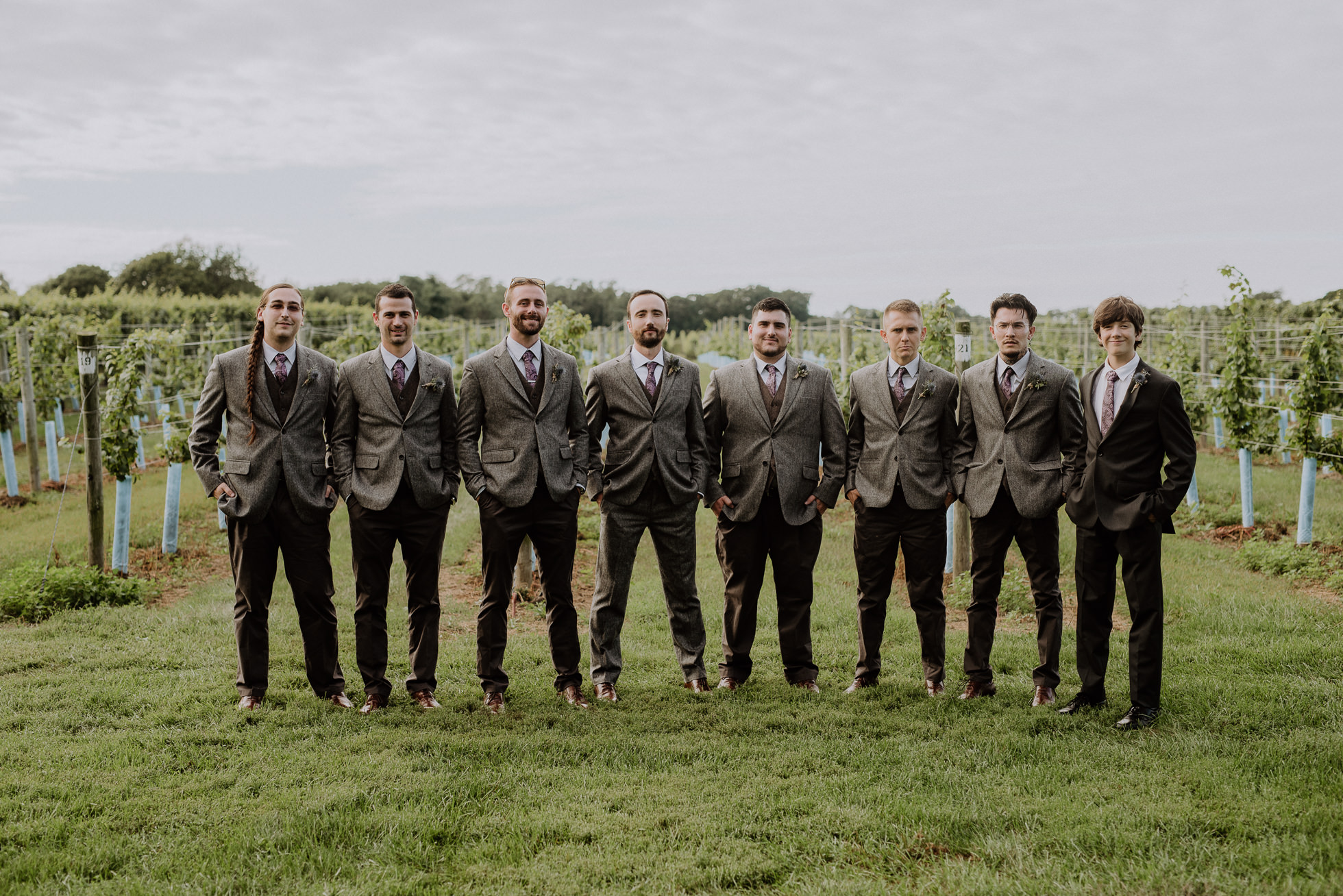 groomsmen wool suits