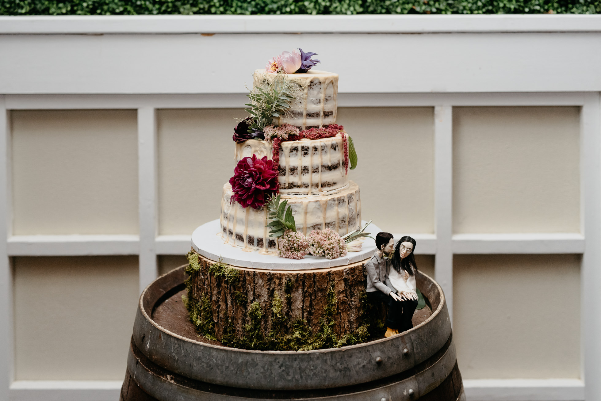 rustic wedding cake long island
