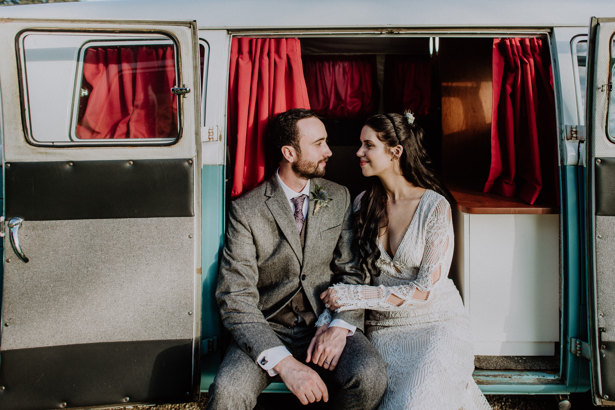 VW van wedding photo booth